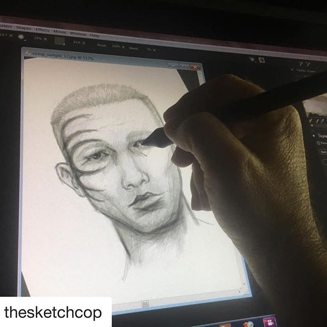 Want to know how forensic artists can create a suspect's face from interviewing victims of crime?  Mike Streed, @thesketchcop has been catching bad guys for over 30 years, and will tell you how he does it! . . . . #corelpainter #wacom #artistsoninstagram #photooftheday #sketch #draw #digitalpainting #stylusdangerous #artist #artlife #compositesketch #forensics