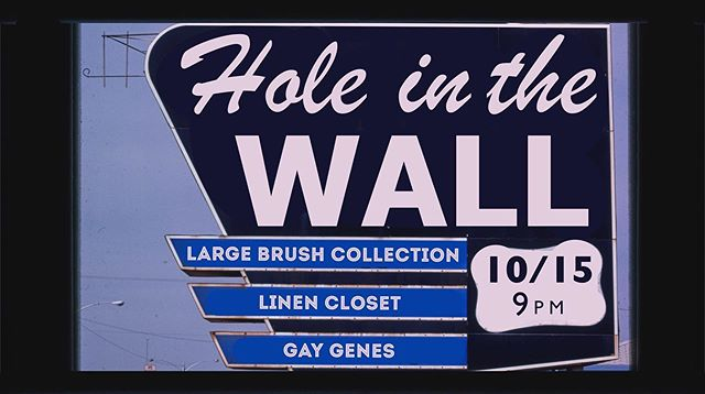 Panoply of posters, pt. 2: for our show one week from tonight at @hitwatx with @largebrushcollection and Gay Genes!