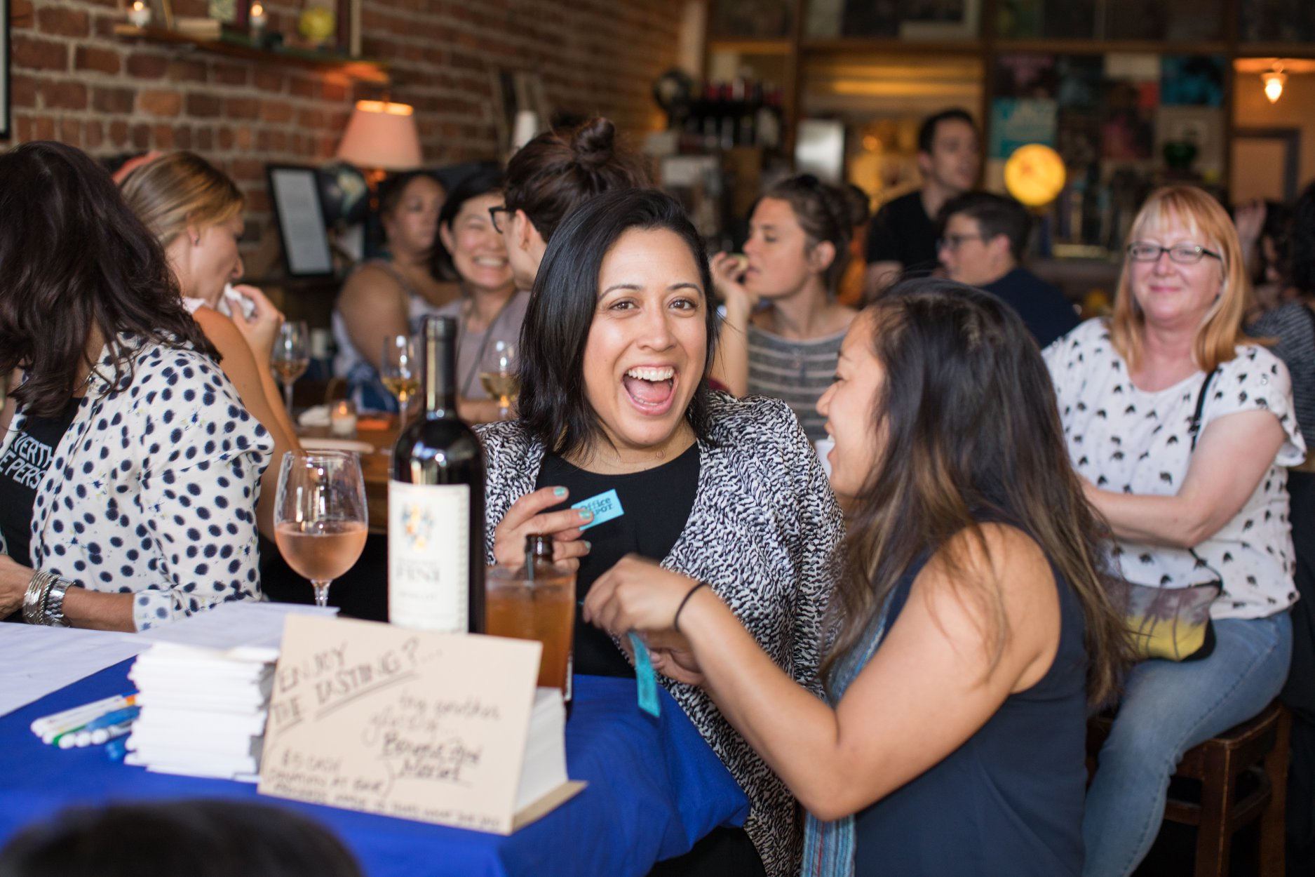 📷 © Morgan Shidler |  July TWSS™: Comedy Night + Barone Fini Wine Tasting Challenge