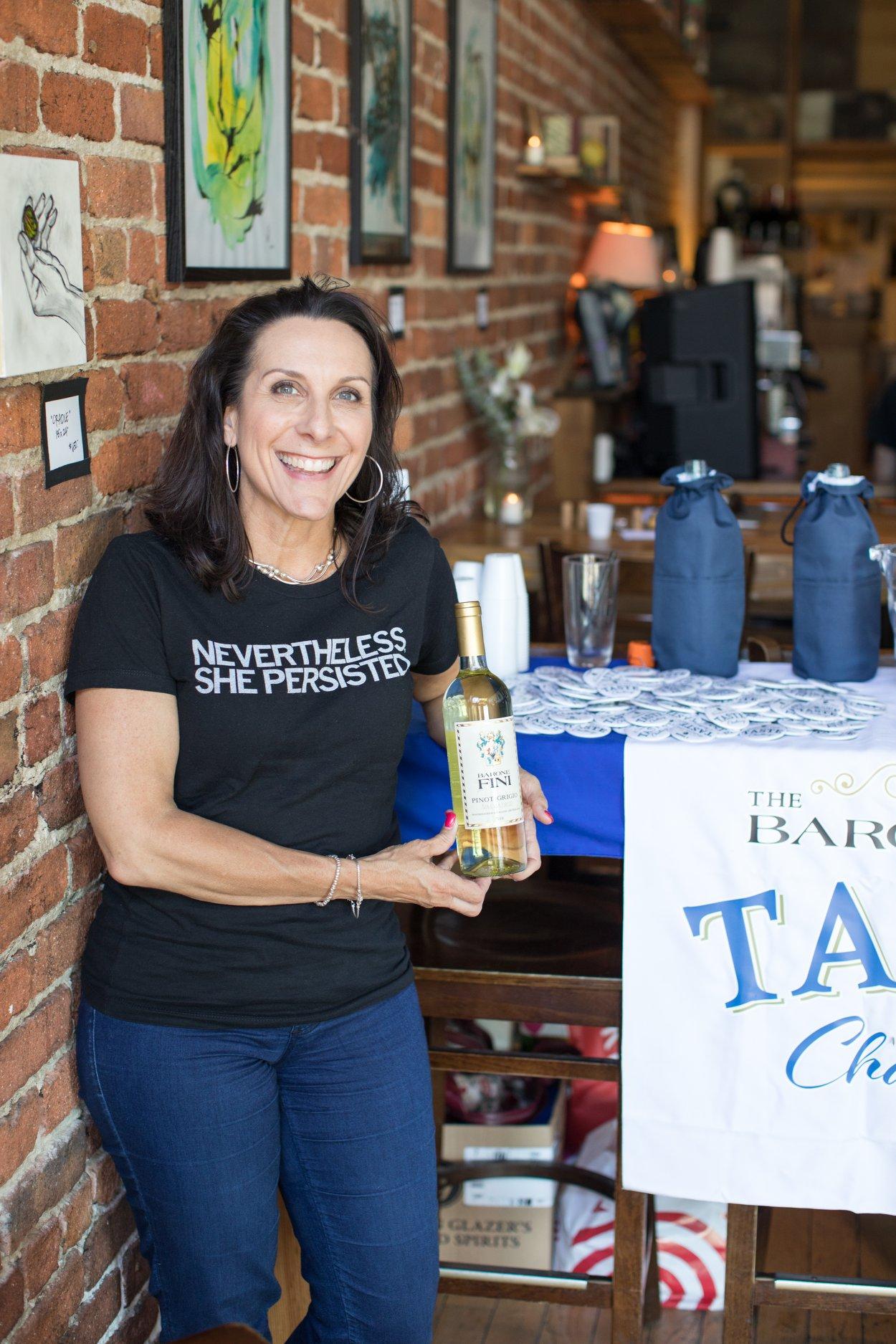📷 © Morgan Shidler    Suzette Obergfell, TWSS™ sponsor Barone Fini Wines