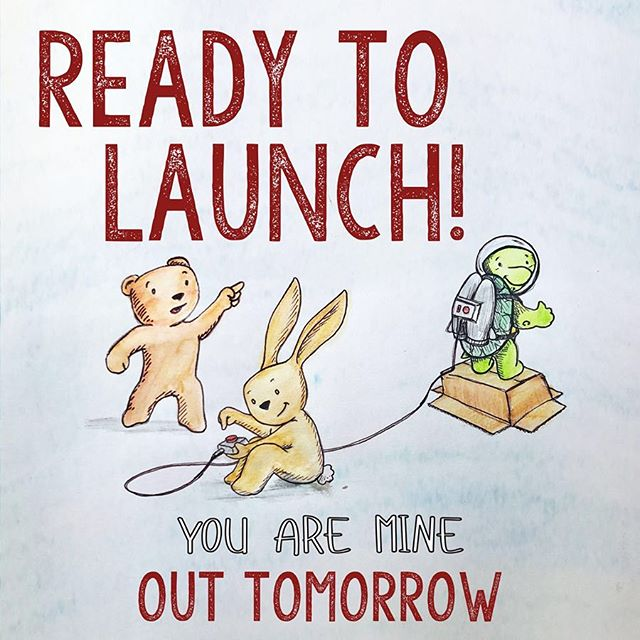 Hurray! Turtles in jet packs are excited for our book release. . . . . . . . #youareminebook #flyingsquirrelpublications #illustration #illustrations #authorillustrator #indiepublishing #kidslitart #kidlitart #kidlitartist #childrensbookillustration #childrensbook #booklaunch #booklaunching #bookrelease #countdown #countdowntolaunch