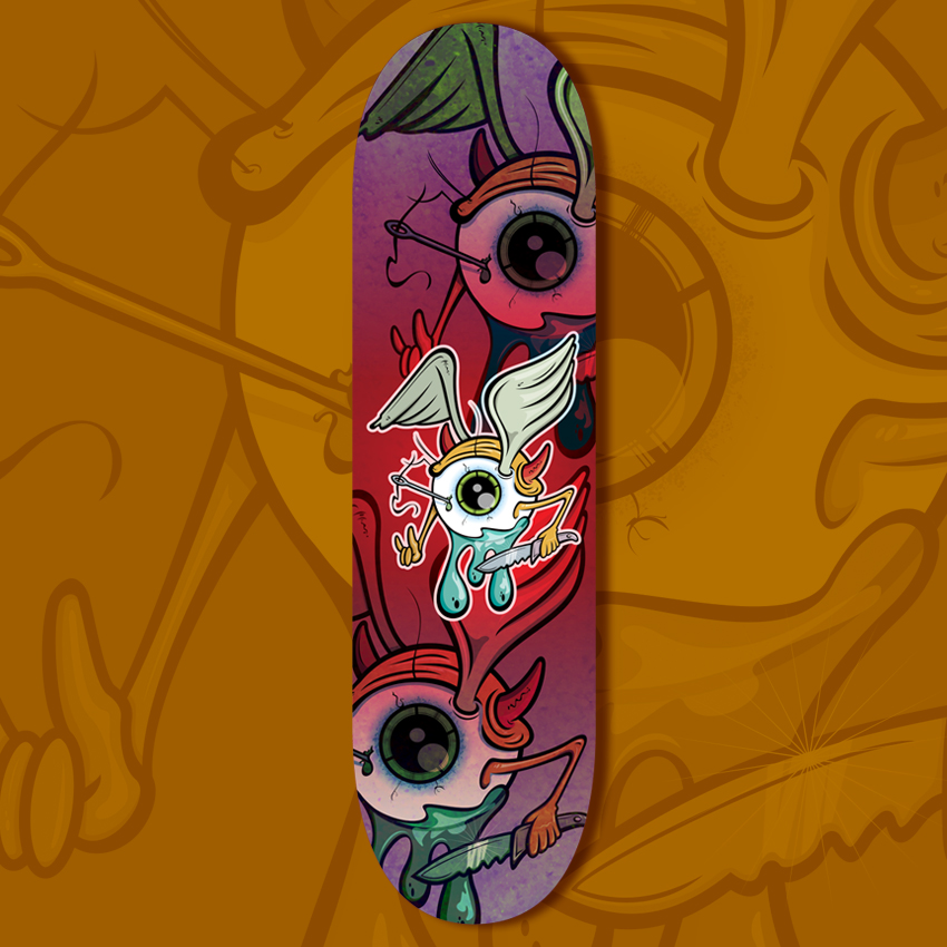 Metal In Your Eye Skateboard Deck