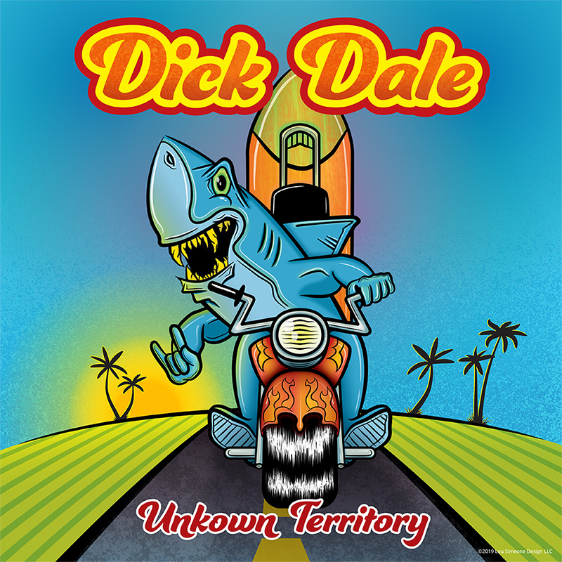Dick Dale, Unknown Territory Album Cover, Surf Art