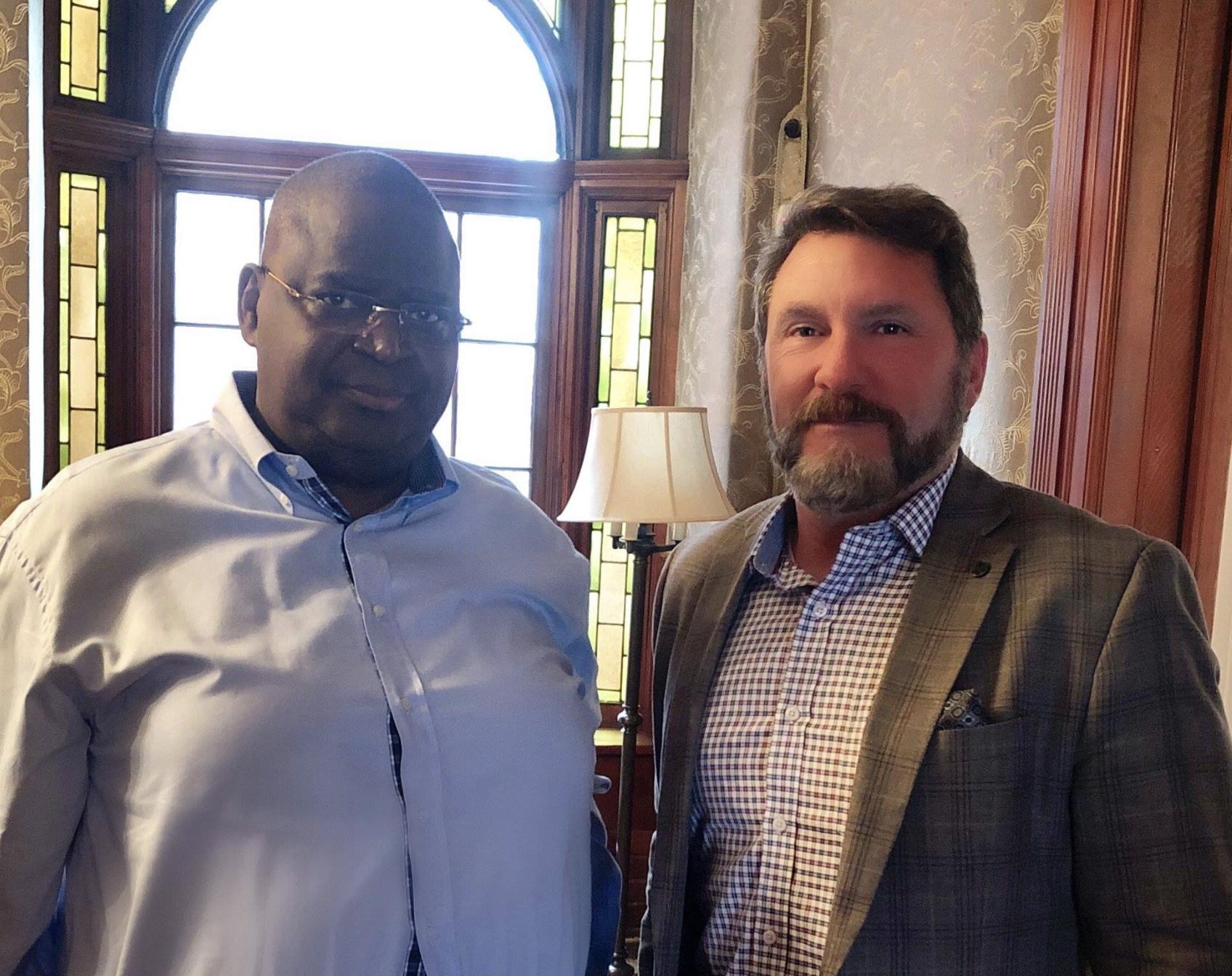 In Washington D.C. with H.E. Ambassador Serge Mombouli, of the Republic of the Congo