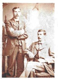 George Faulkner (standing) and Patsey Reagan, circa 1876.