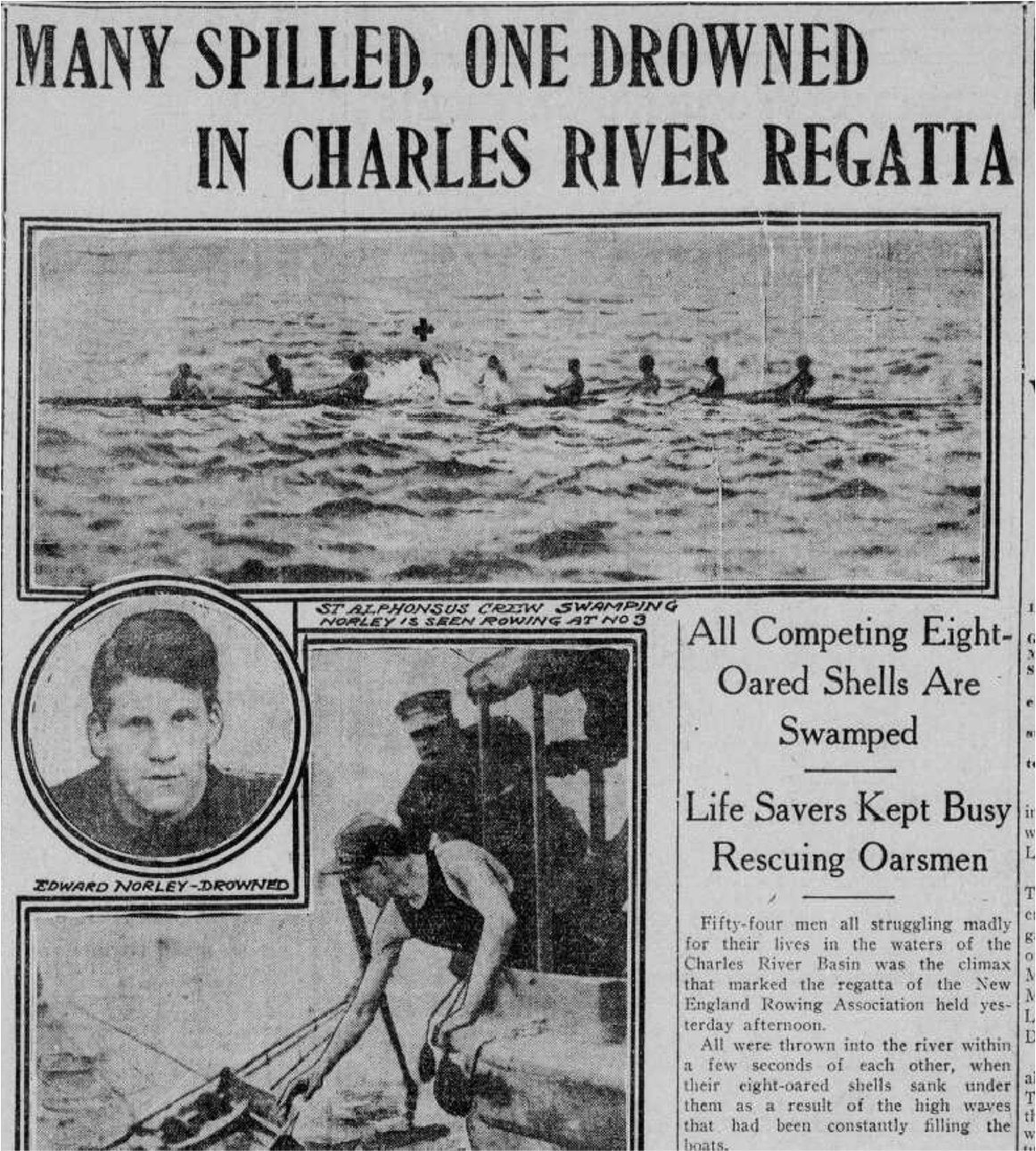 Boston Post front page, July 6, 1909