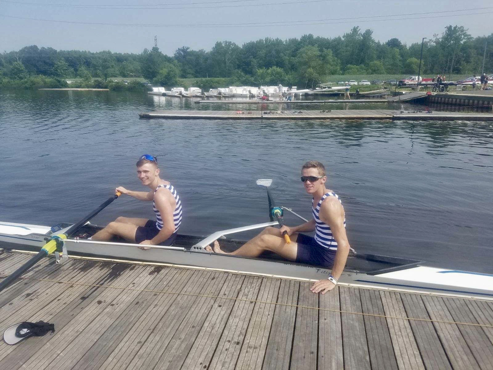 The U23 Lightweight Men's pair: Collin Hay and Matthew Marchiony won their final with a time of 6:47.26.