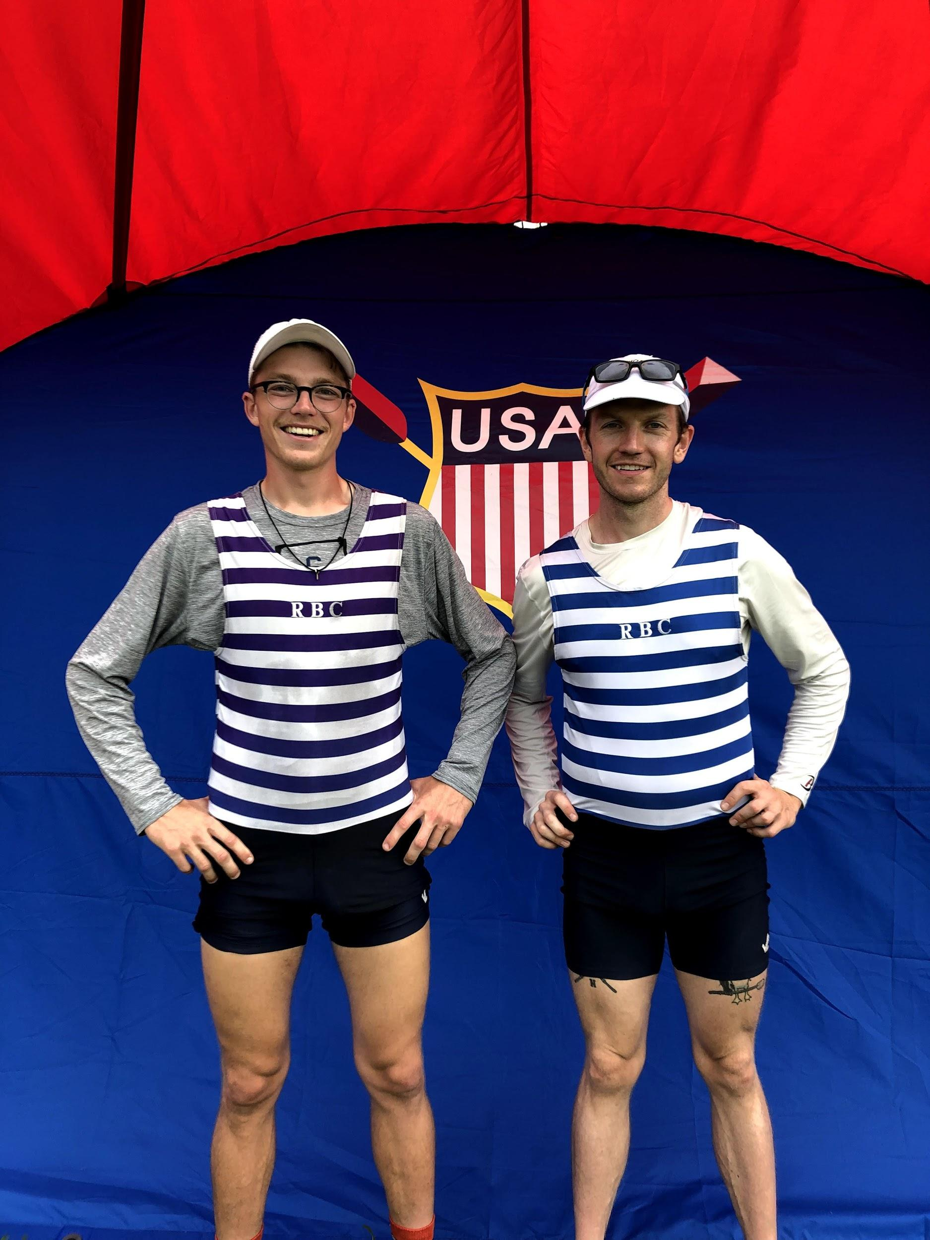 The pair representing in their RBC Stripes!