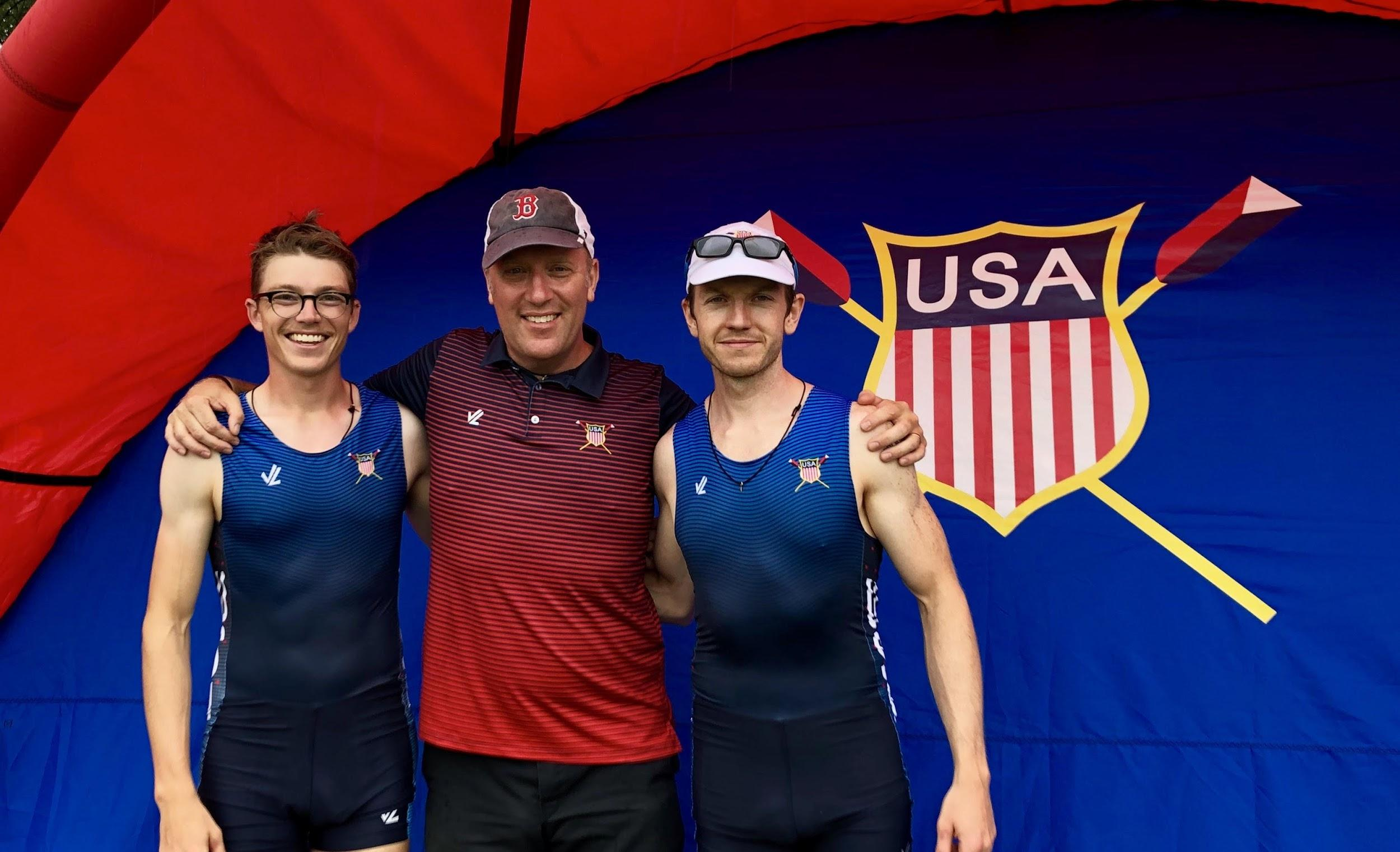 Nelson, Lefebvre and Twist in Team USA gear
