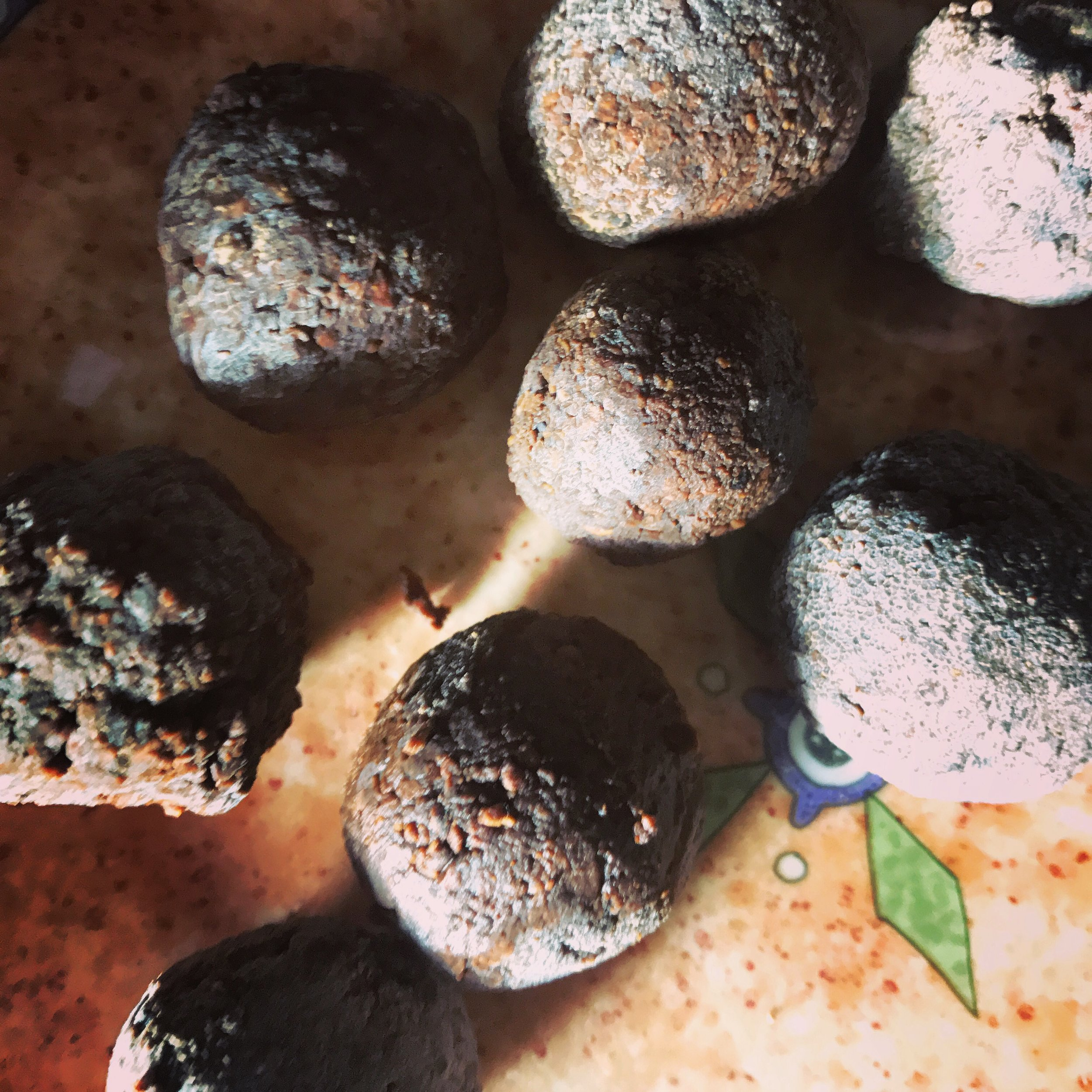 hiwwuni-sokoote woola • roasted bay nut balls