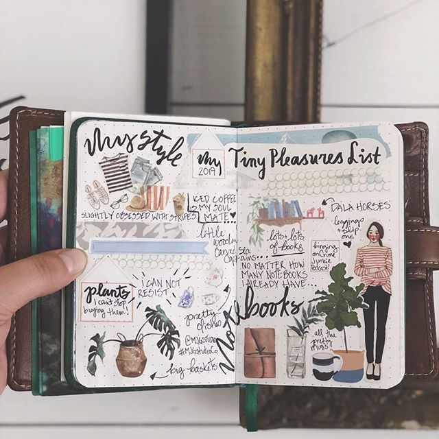 A list of my tiny pleasures in my art journal. Which ones do you love too? . . . . . #artist #sketchbook #journaling #drawing #diary #bujo #artjournaling #bulletjournal #painting #journal #instaart #aesthetic #stationery #stationeryaddict #artistsoninstagram #illustration #artjournal #art #photography #washitape #bulletjournaling #planneraddict #mixedmedia #inspiration #love #artwork #notebook #planner #plannercommunity