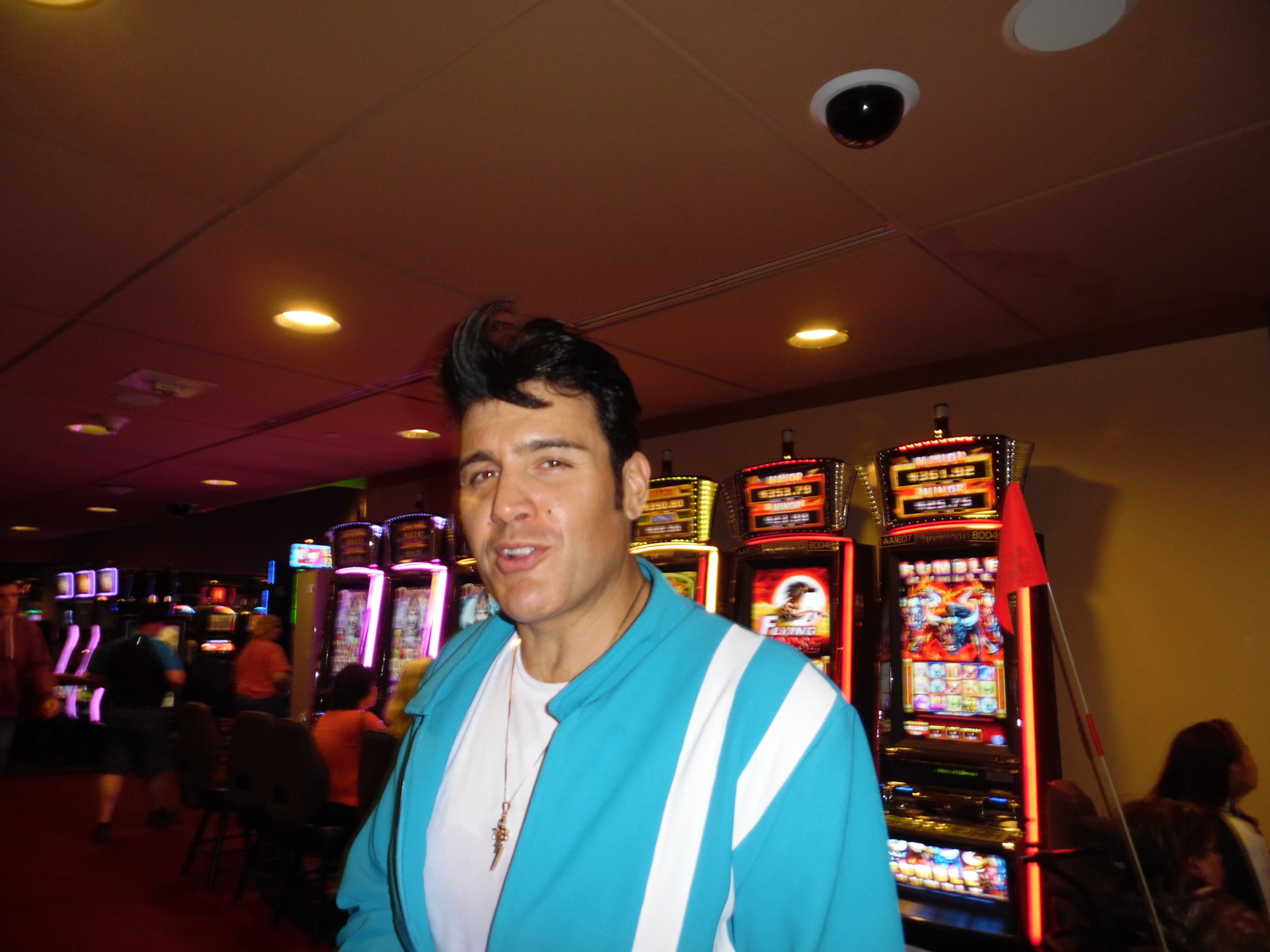 ETA  Gino Monopoli  during intermission at Brantford Casino, ON 2017