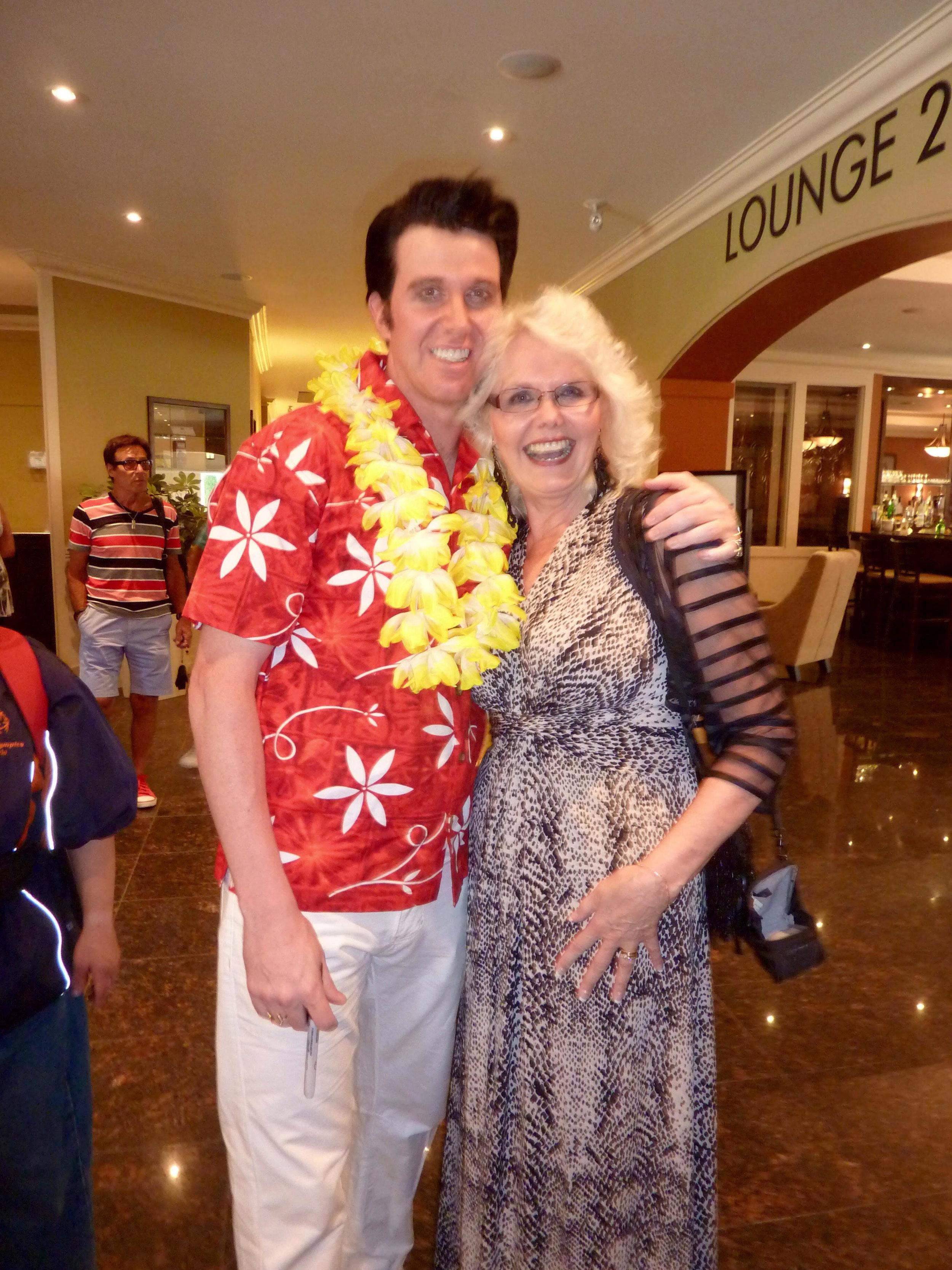 ETA  Matt Cage  with fan, Audrey Manasterski