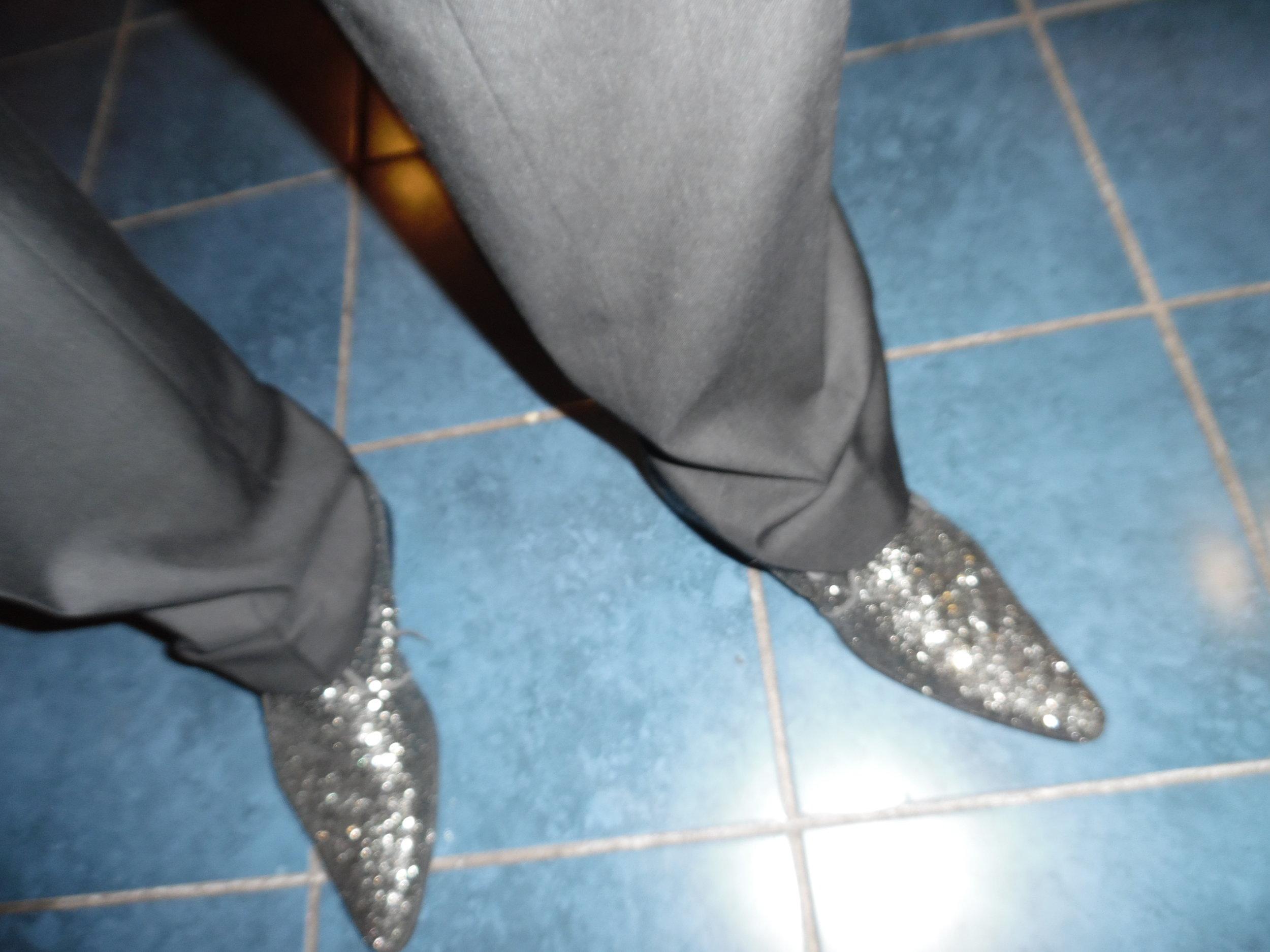 ETA  Steve Michaels ' post concert, photo worthy shoes. Woodbine Racetrack, Woodbine, ON 2016