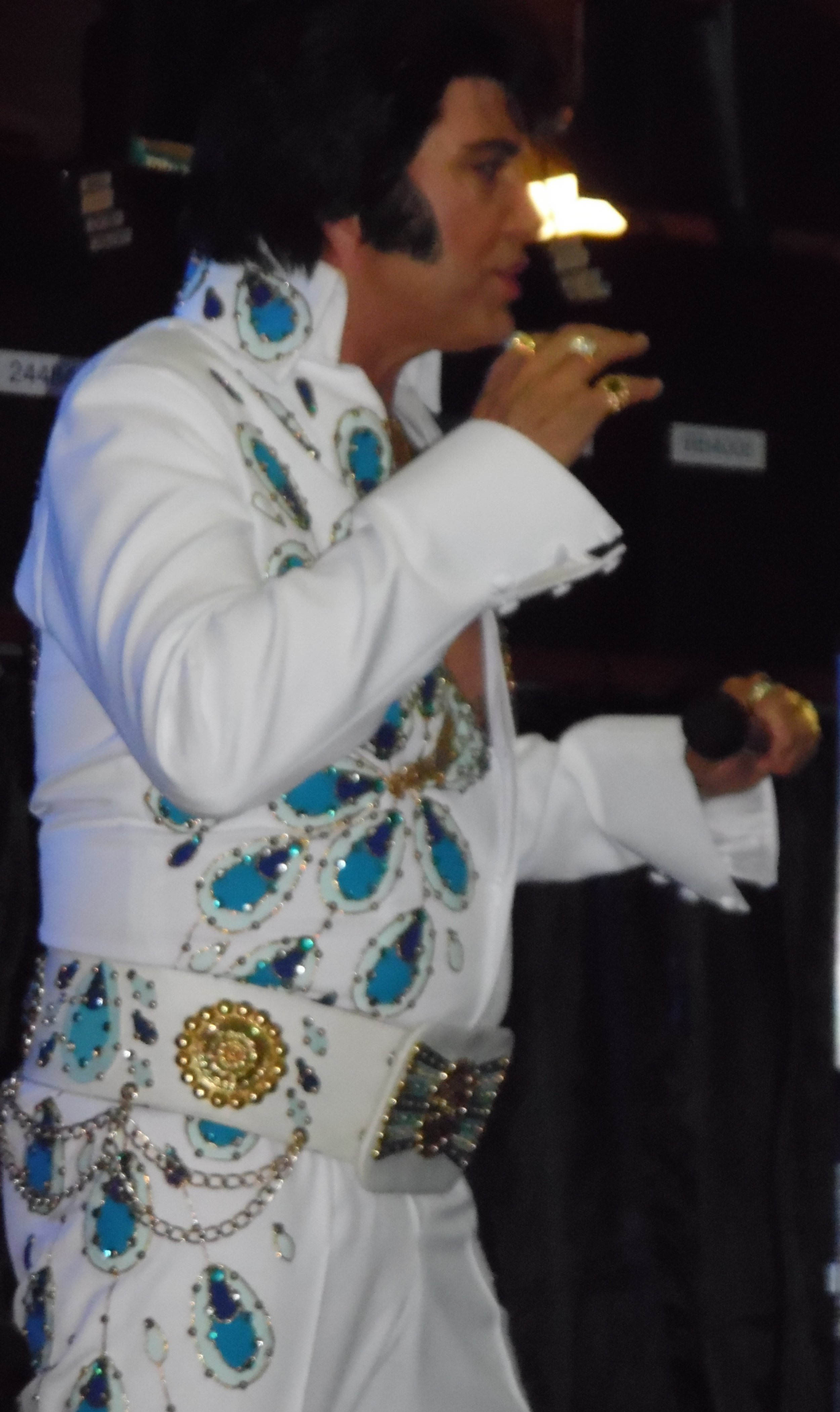 ETA  Sylvain Leduc  in concert at Flamboro Downs, Flamborough, ON, Friday September 29th, 2017. The Peacock jumpsuit was the first of three that Sylvain wore during his amazing 3hr concert.