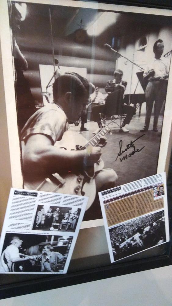 ETA  Brent Freeman's  signed photo of Scotty Moore, Elvis' guitarist.