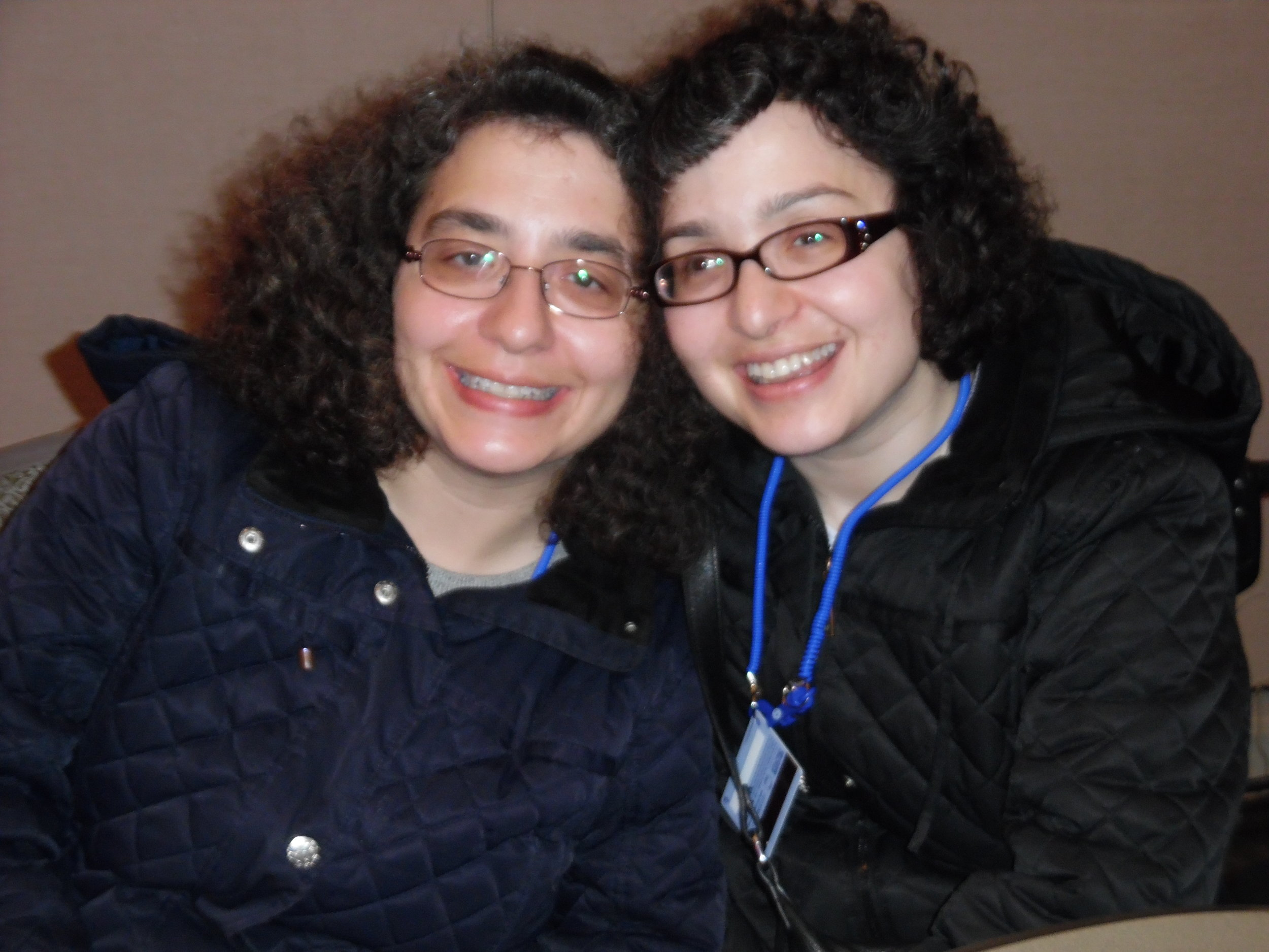 Loyal ETA fans, and sisters, Maria (left) and Oni waiting for the  Gordon Hendricks ' concert to begin in Ballroom D at the Scotiabank Convention Centre, October 21st, 2017.
