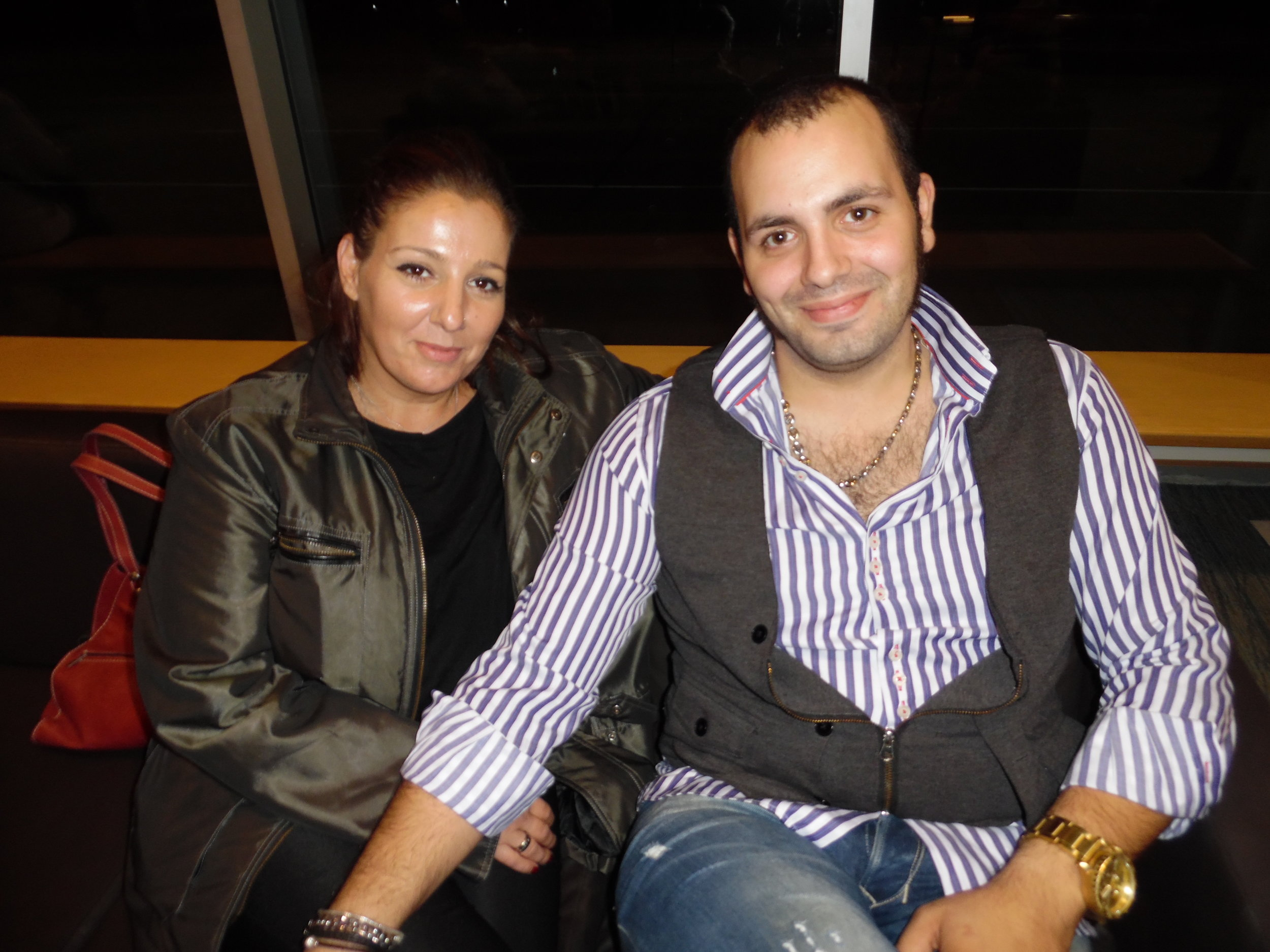 ETA  Bruno Nesci  and his girlfriend, Mary, after Gordon Hendricks' concert, October, 2017