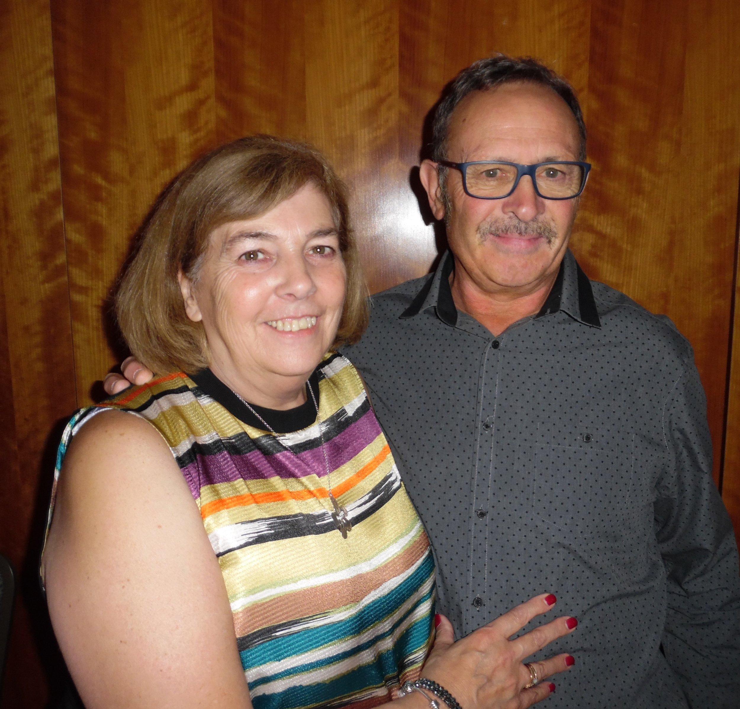 David Regan, ETA Gordon Hendricks' Road Manager, and his wife Linda, who helps with costumes and merchandising.