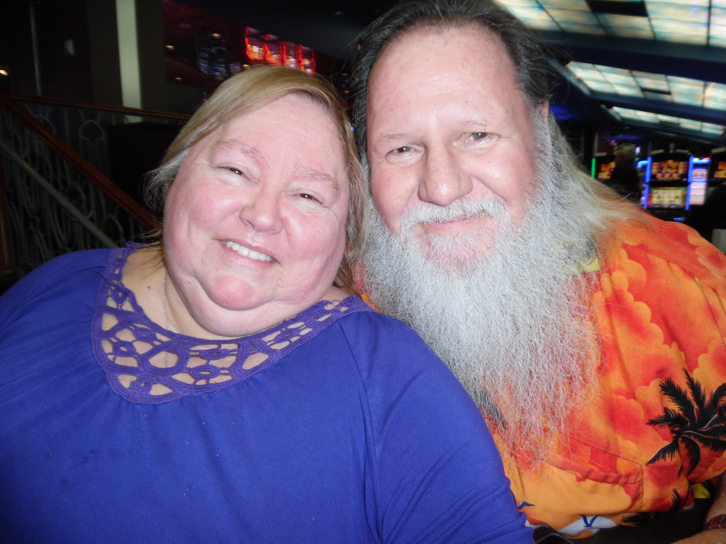 Darlene and John Martin, who are celebrating their 45th wedding anniversary on November 18th, 2017, drove from Belleville, ON, to see ETA  Matt Cage  perform at Flamboro Downs on October 27th, 2017.