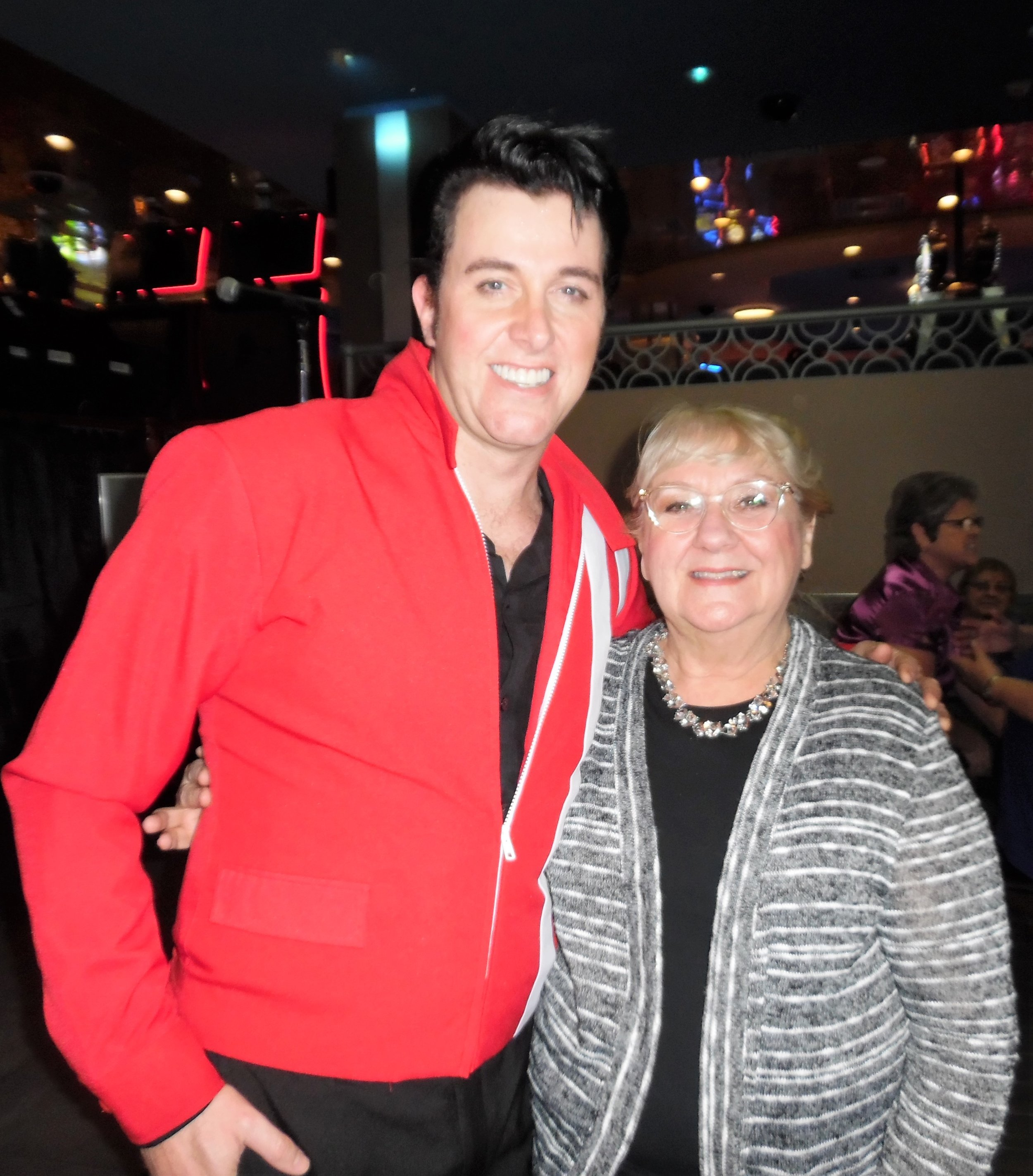 Matt  looked great in his red Speedway jacket. October 27th, 2017.