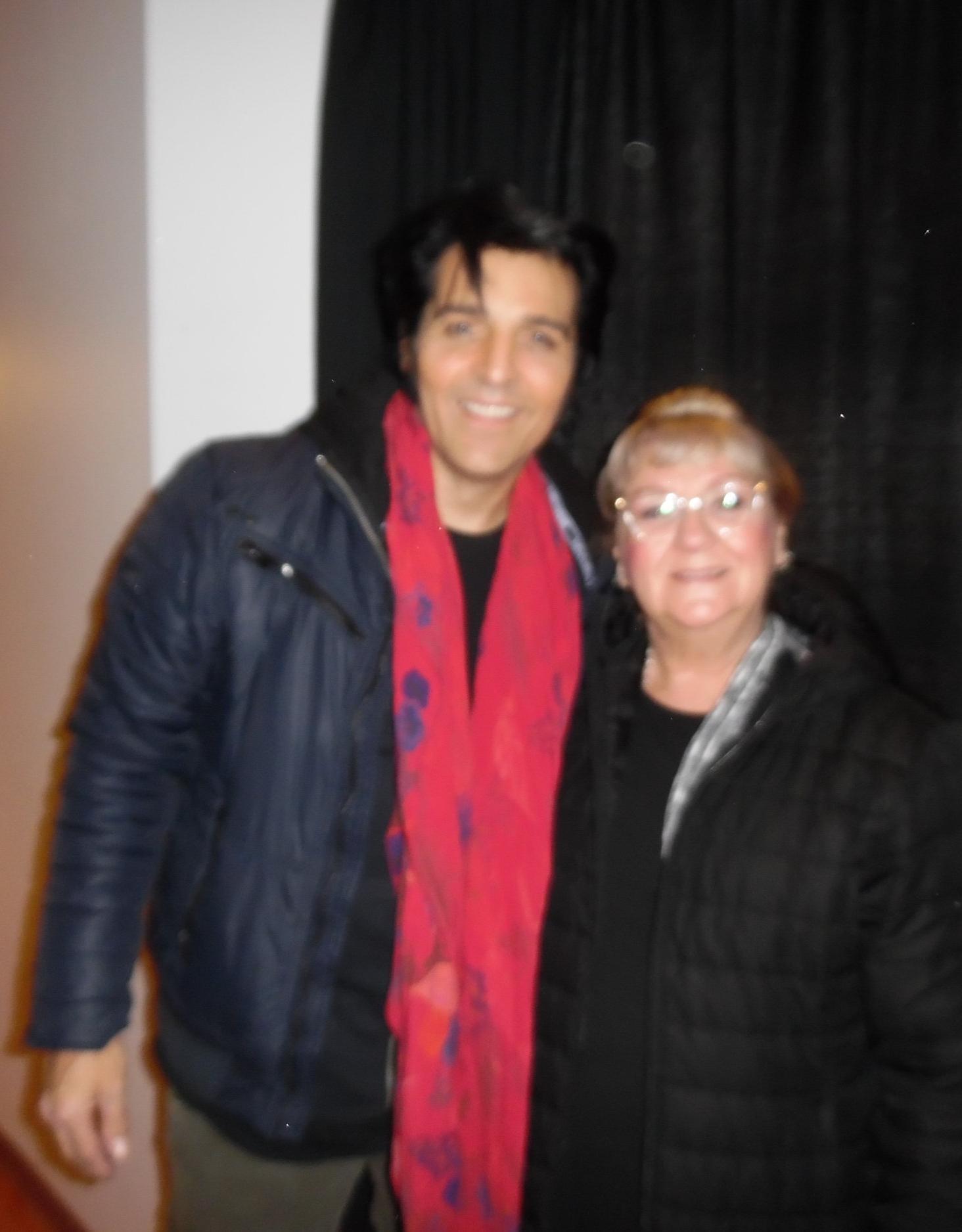 ETA  Steve Michaels  and Carolyn after concert at Mohawk Raceway, December 3rd, 2017.