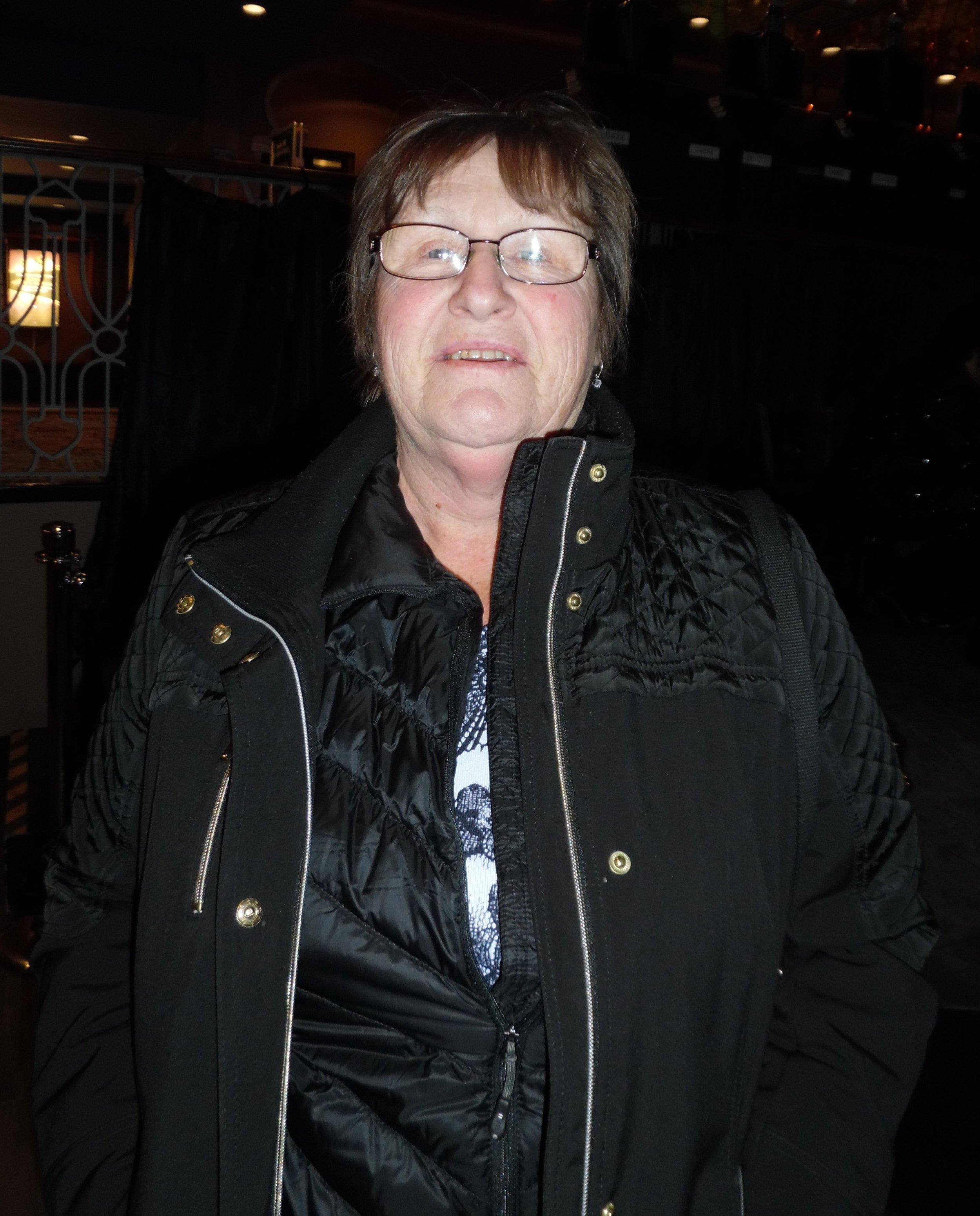ETA fan Donna Young, January 5th, 2018 at Flamboro Downs.