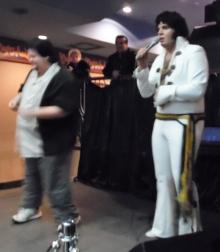"""ETA  Chris Cooper  performs """"Hula Rock"""" at Flamboro Downs as ETA  Bruno Nesci 's guest."""