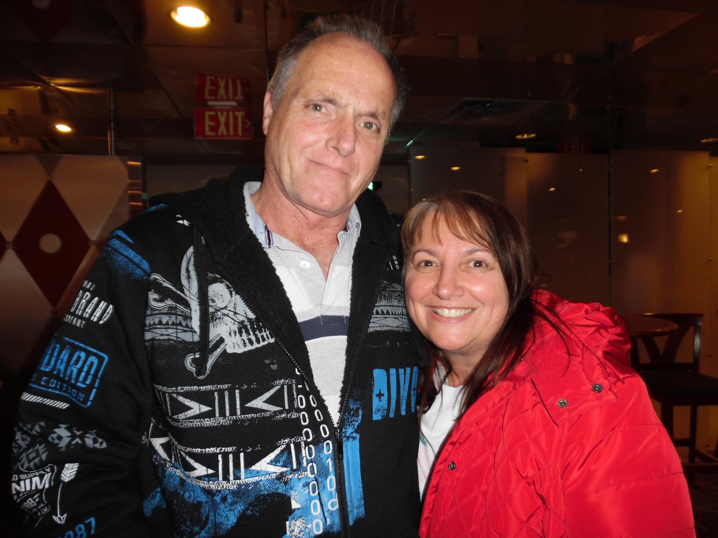 Friends Brian and Debbie at Mohawk Raceway after ETA  Matt Cage 's show.