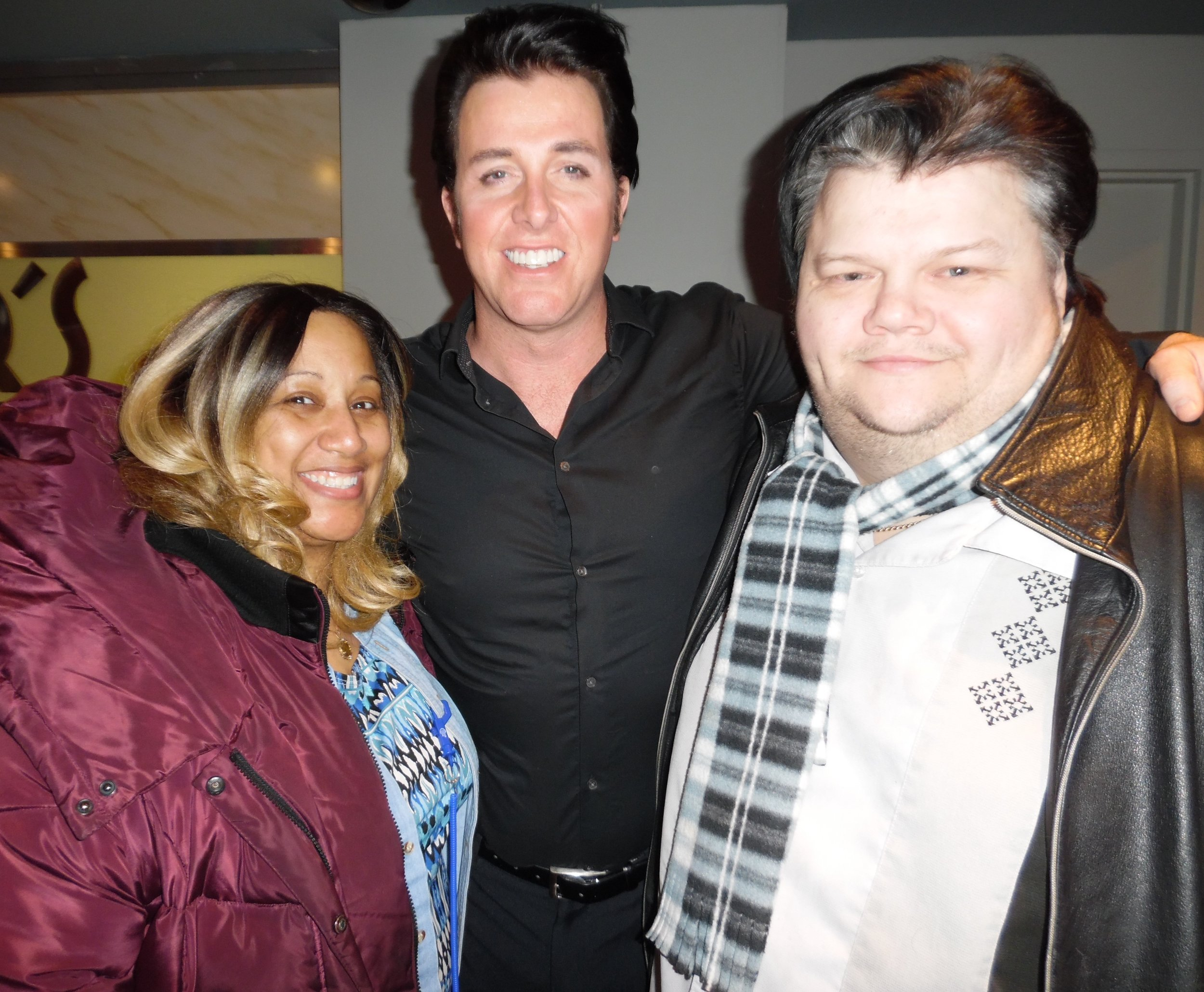 ETA  Matt Cage  with ETA  Chris Cooper  and Chris's fiancee, Tyra Johnson, at Matt's show at Mohawk Raceway, Friday, February 9th, 2018.