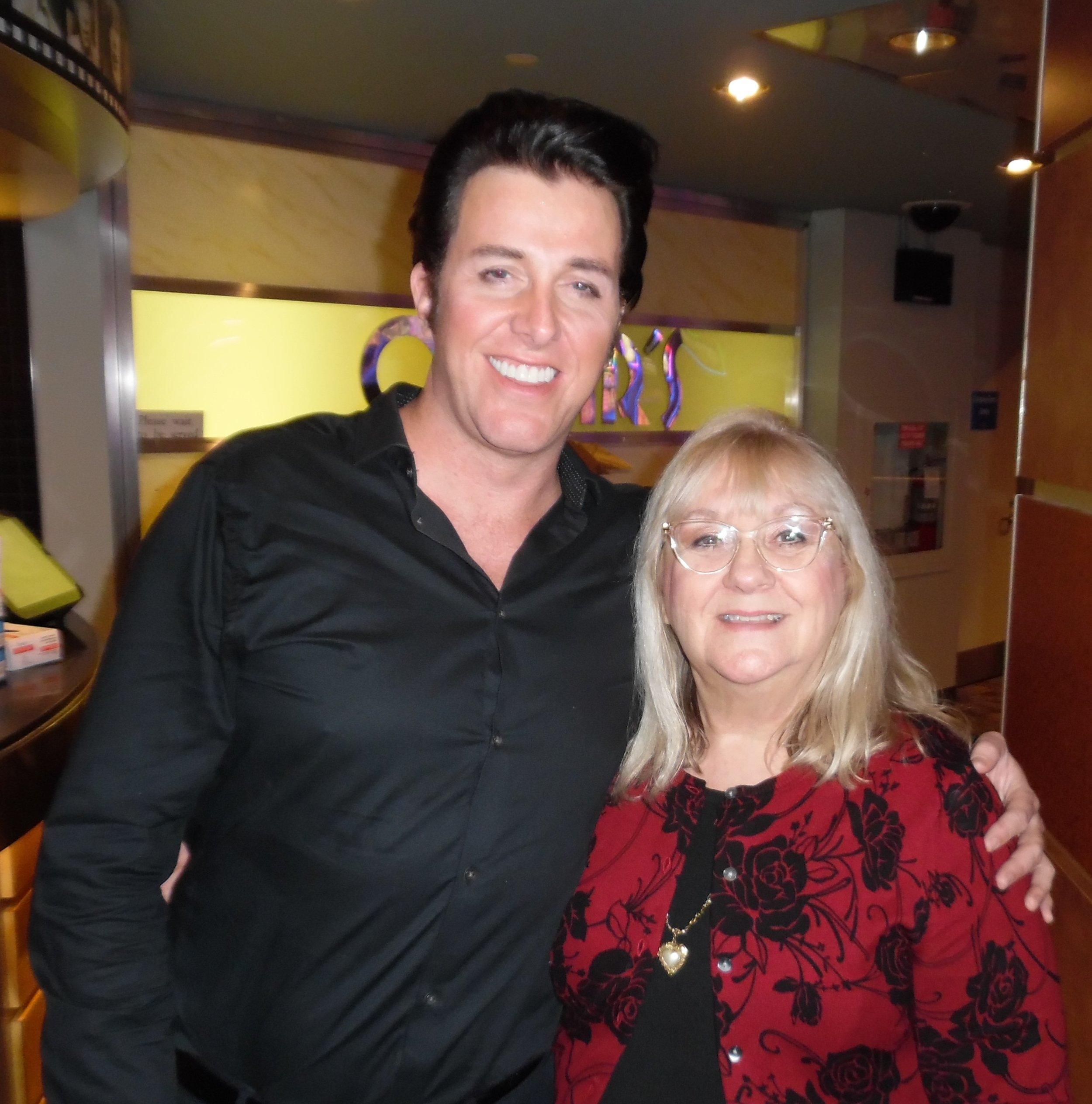 ETA  Mage Cage  with Carolyn MacArthur, Editor of SIDEBURNS Magazine, at Matt's show at Mohawk Raceway, Friday, February 9th, 2018.