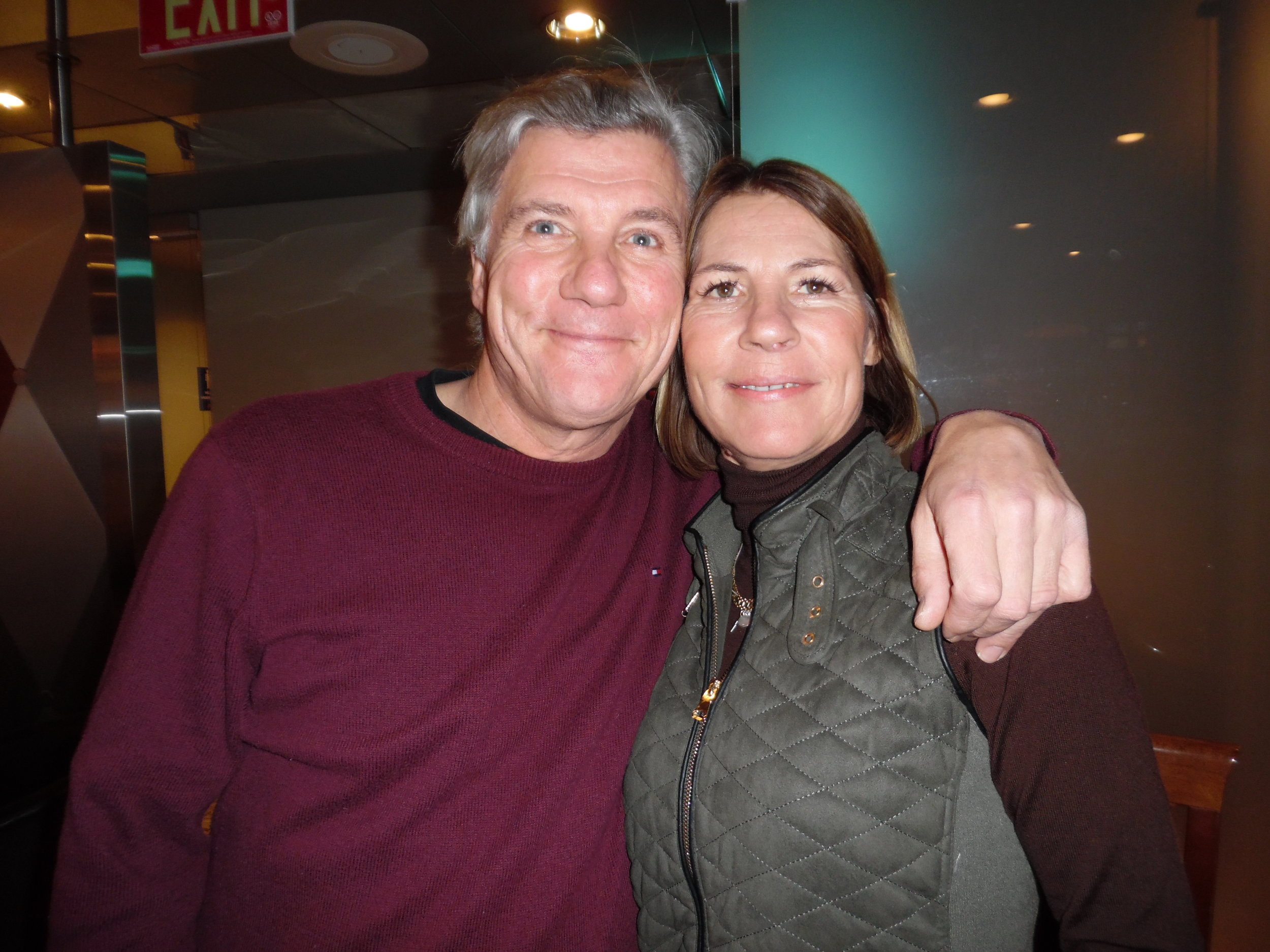 Freddie and his wife, Chris, enjoyed dancing at ETA  Matt Cage 's Mohawk Raceway show.