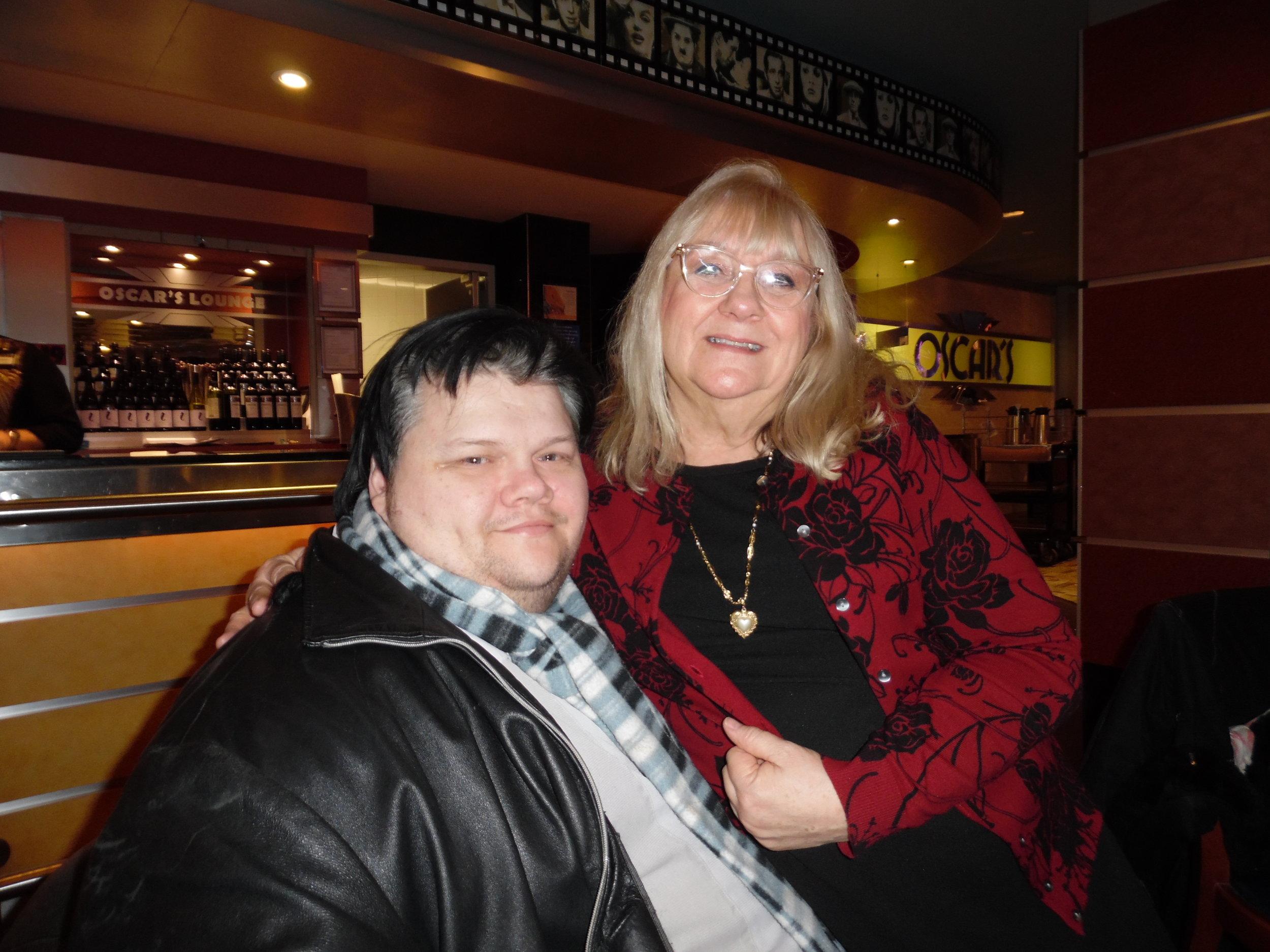ETA  Chris Cooper  with Carolyn MacArthur at ETA  Mage Cage 's show at Mohawk Raceway.