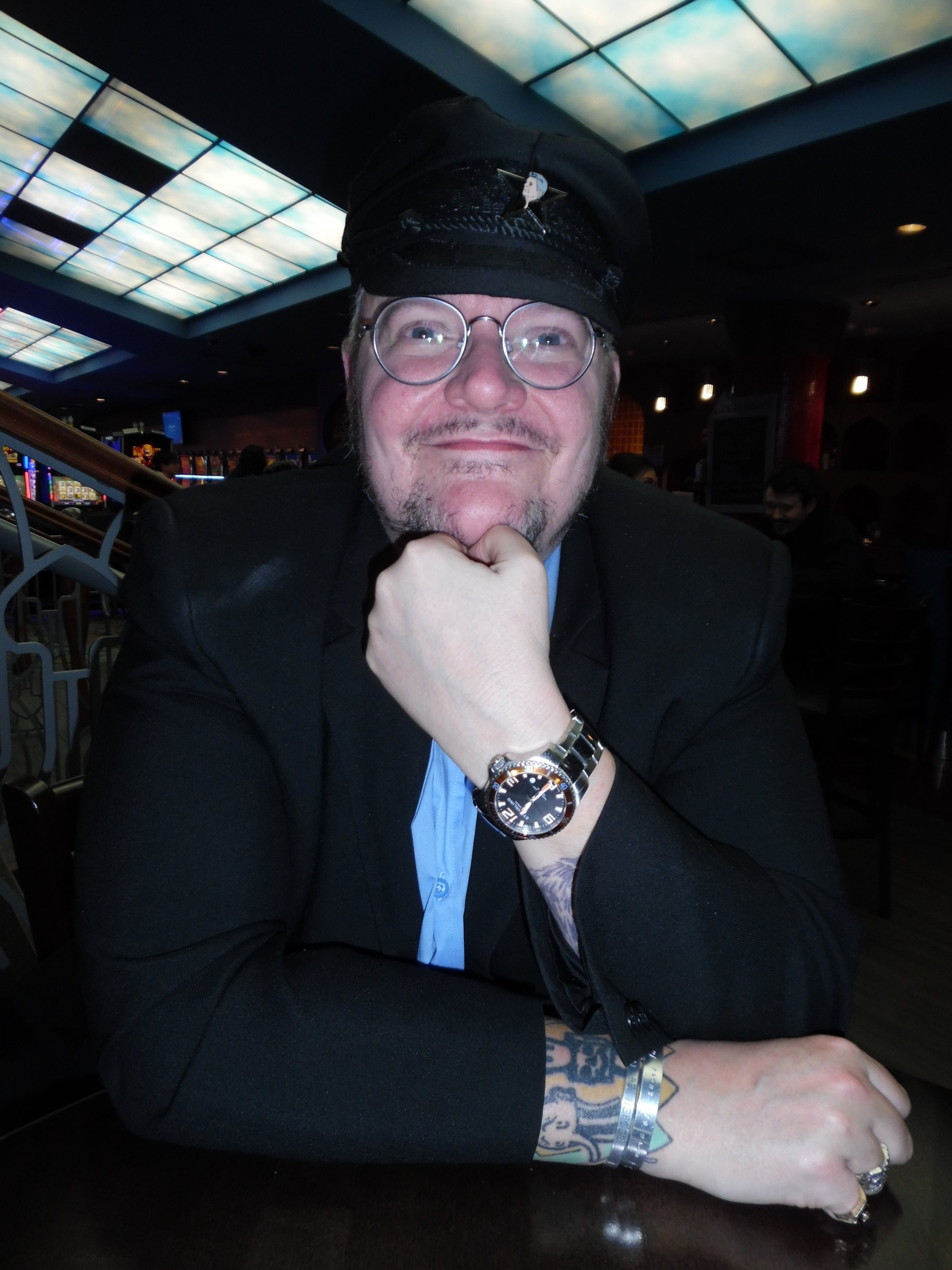 Entertainer and Tribute Artist,  Marcus   Wells , at Flamboro Downs for ETA James Gibb's March 16th show.