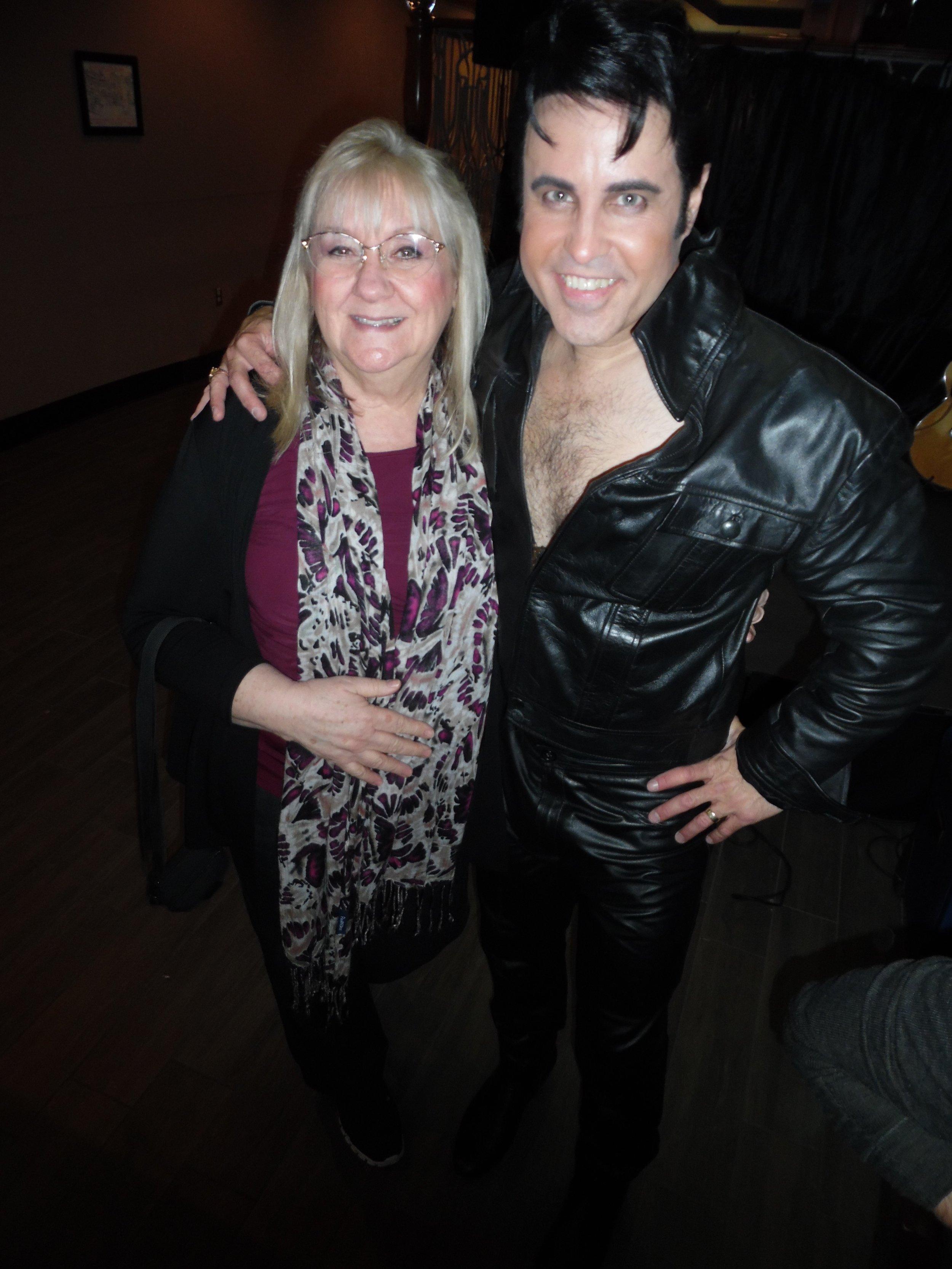 SIBEBURNS Magazine editor, Carolyn MacArthur, with ETA  James Gibb , March 16th, 2018, at Flamboro Downs.