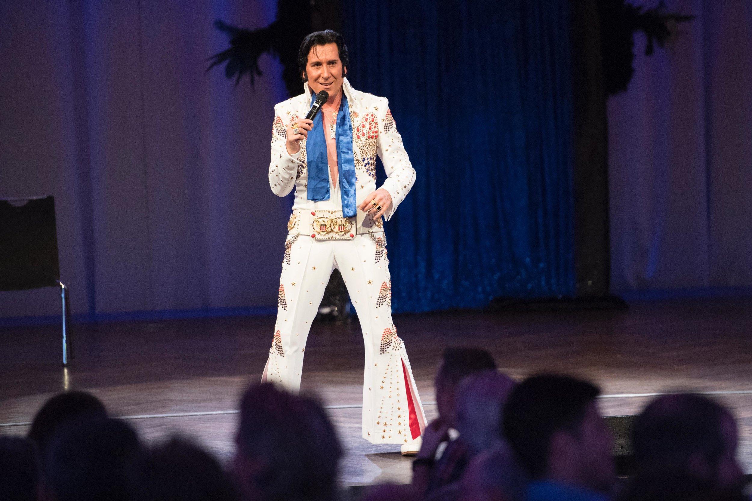Switzerland's top ETA,  Tommy King , performing 70s Elvis.   Photo provided by Tommy Meyenberg.