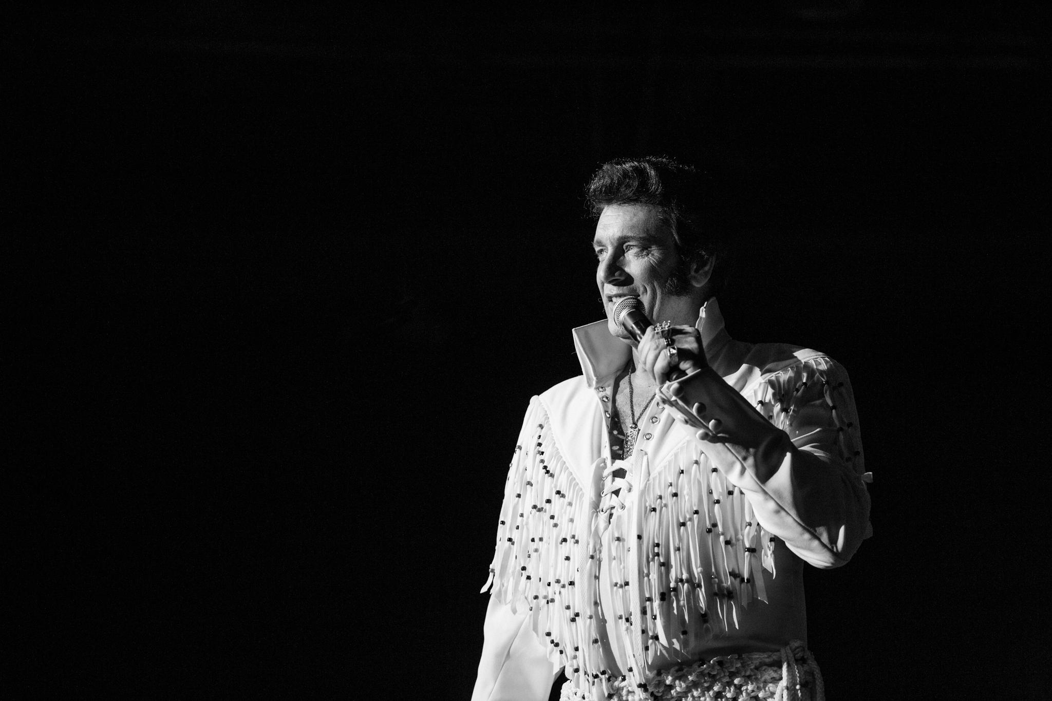 A beautiful moment in ETA Patrick Johnson's performance at the Niagara Falls Elvis Festival, 2018.  Photo Credit: Lori-Anne Crewe, LA Crewe Photography.