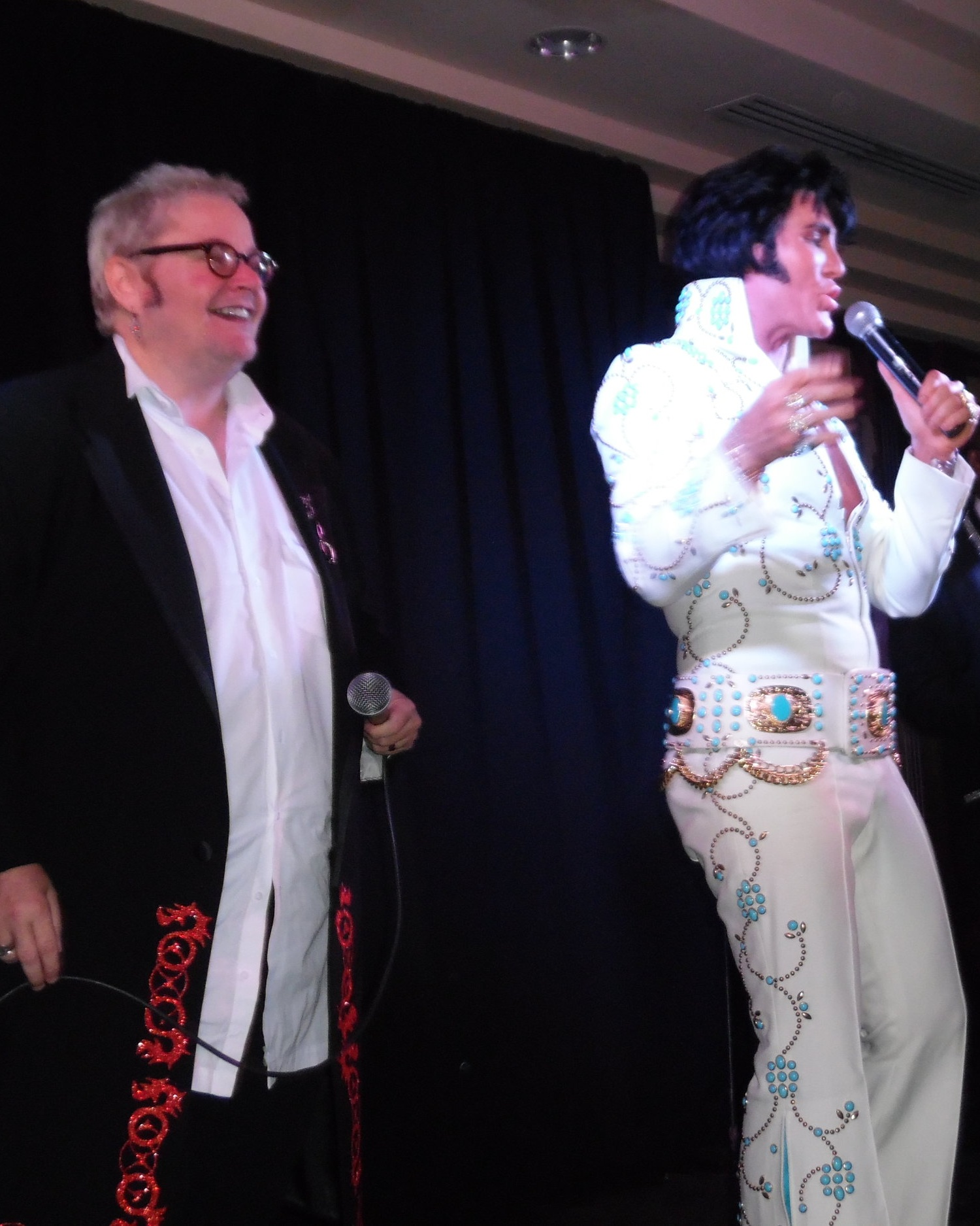 Marcus Wells and Gordon Hendricks will reprise their tributes to Sir Elton John and Elvis Presley at the Grimsby show. Also appearing at the Casablanca will be Tiffany Deriveau as Tina Turner.  Photo Credit: C. MacArthur.