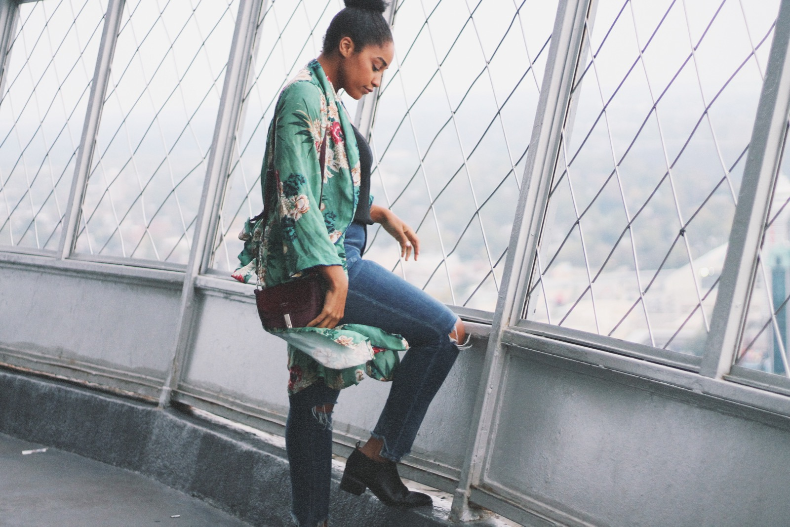 Elaisha Jade at the Skylon Tower in Niagara Falls