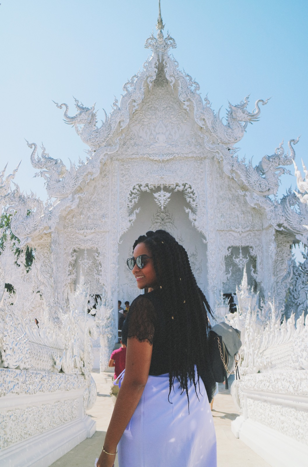 chiang rai white temple elaisha jade black traveller
