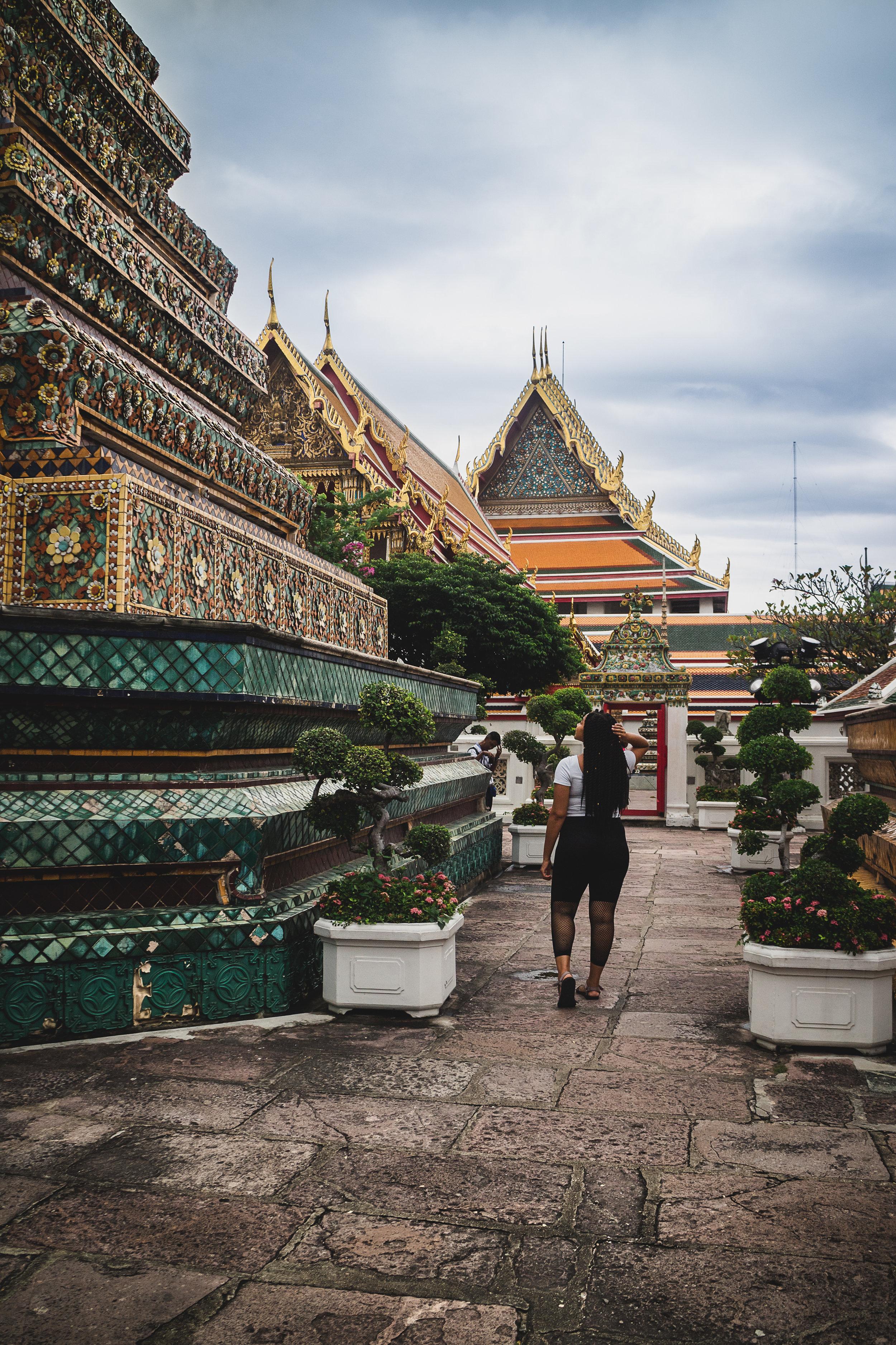 Elaisha Jade in Bangkok at The Royal Grand Palace & The Royal Temple