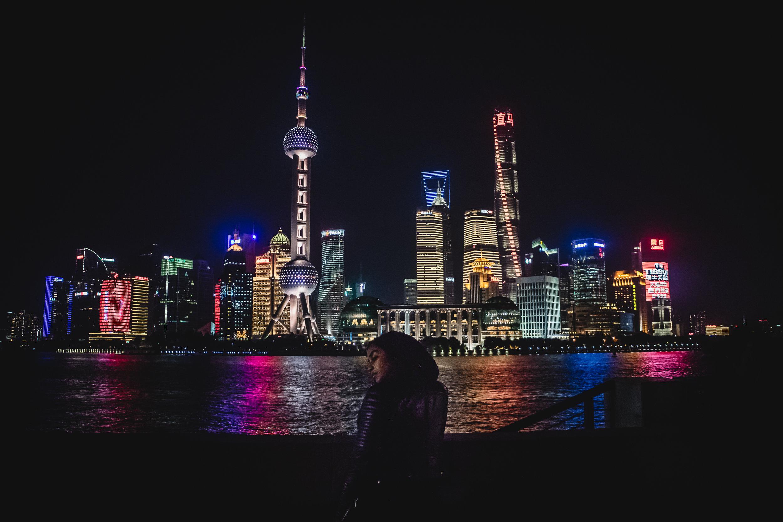 Elaisha Jade China Shanghai The Bund Black Travel