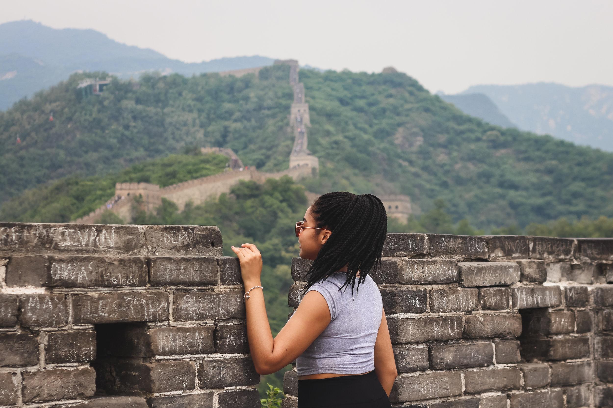 Elaisha Jade Black in Beijing Great Wall