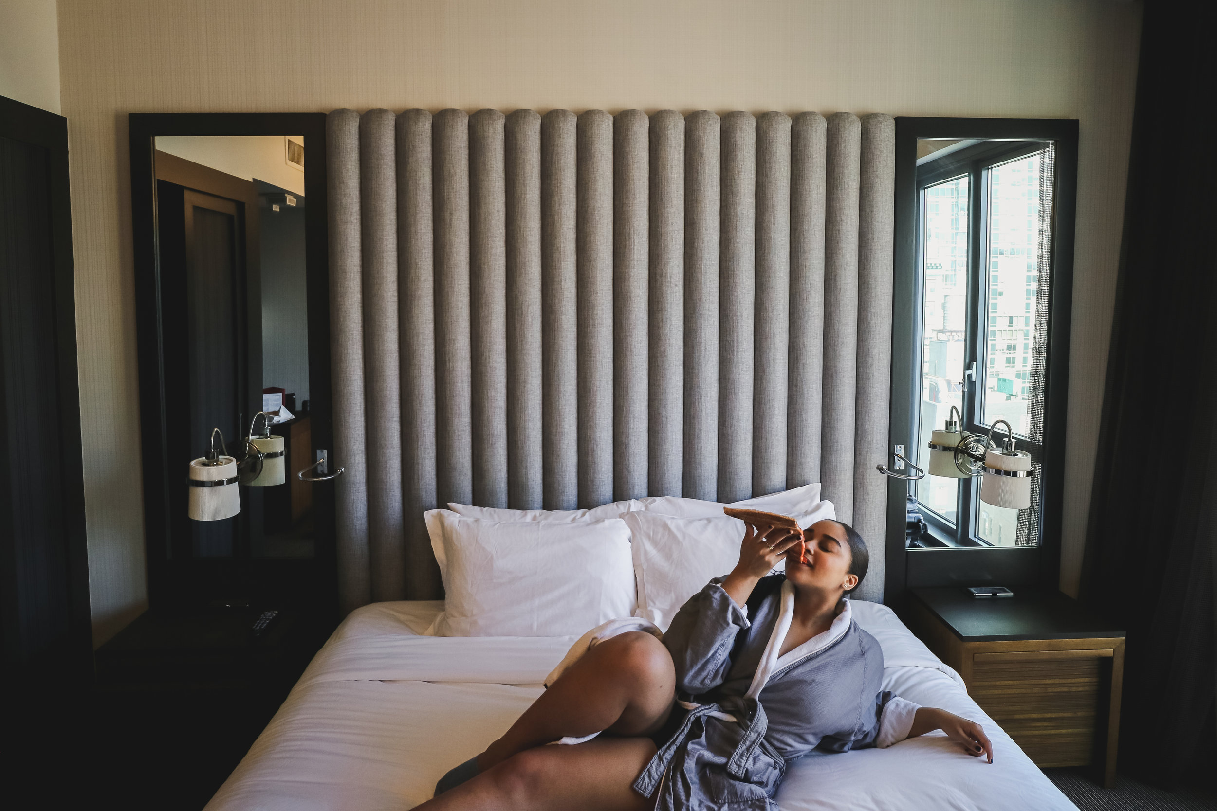 Kimpton Eventi NYC Hotel Elaisha Jade in Bed