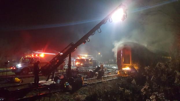 Live Uxbridge location with 30-foot-crane, LRX lights and EMS professionals.