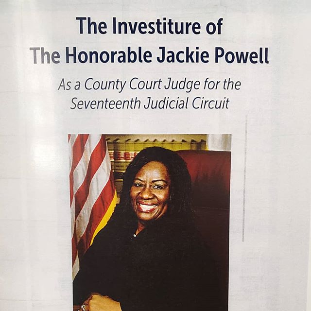 On behalf of @jot_lawfirm we send a huge CONGRATULATIONS to the Honorable Judge Jackie Powell and her investiture at the Broward County Courthouse!!! It was a great celebration and such a great story about what it took for Judge Powell to get where she is. #jotlawfirm #browardcounty #law #judgepowell