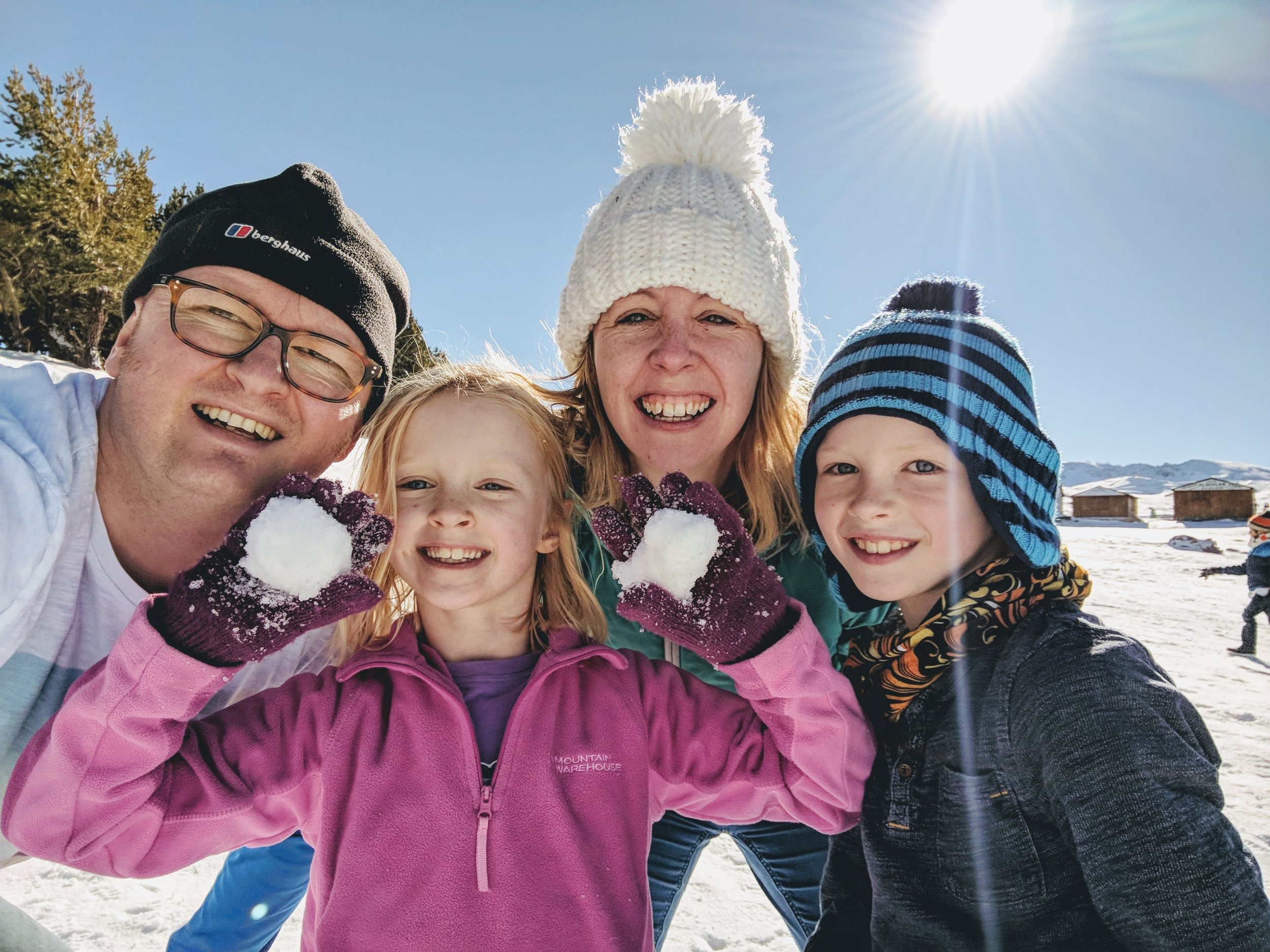 Family Light in snowy Spain. An active, healthy life is an inheritance I want to give my kids.