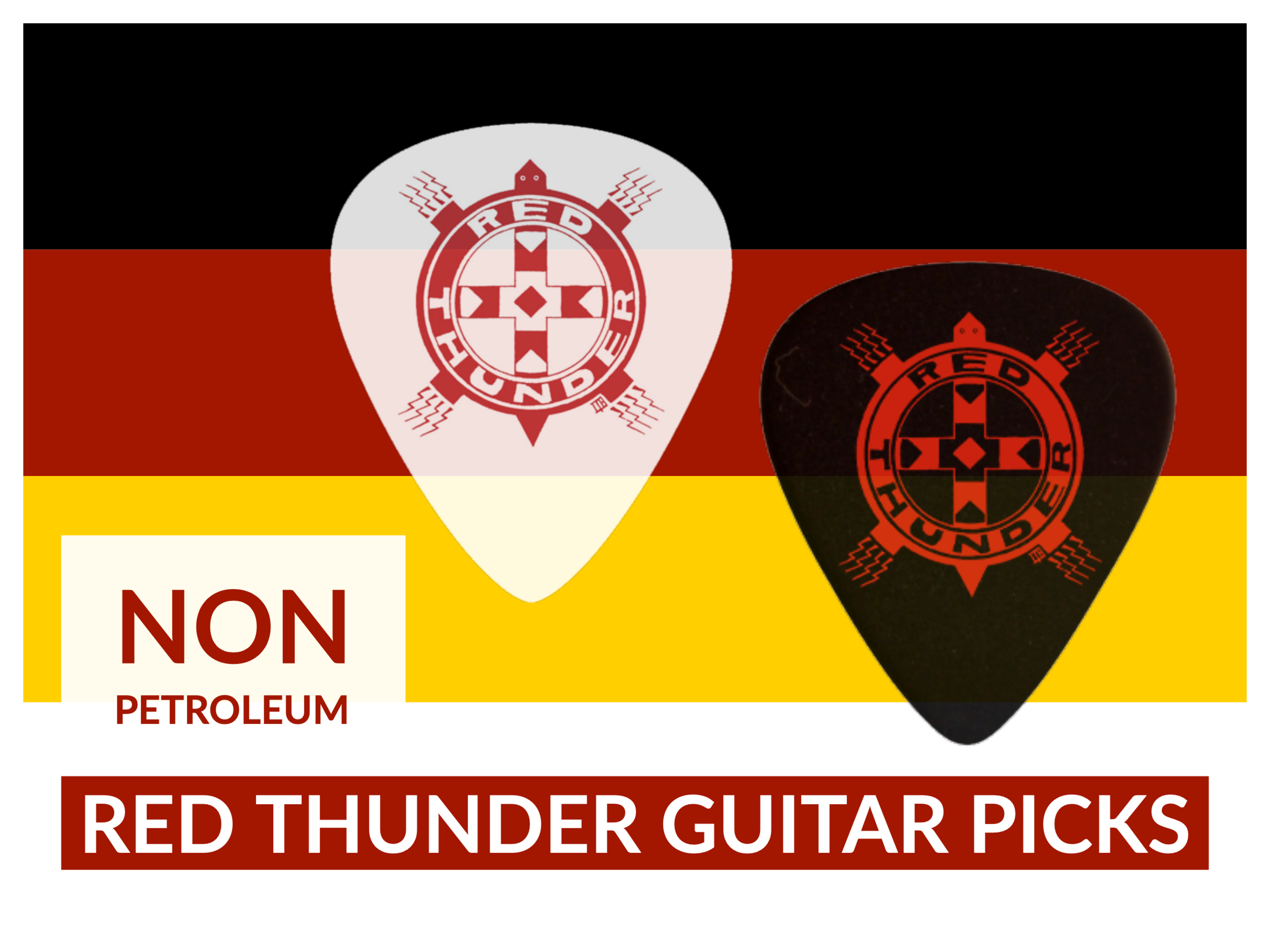 Eco-friendly Red Thunder Guitar Picks.png