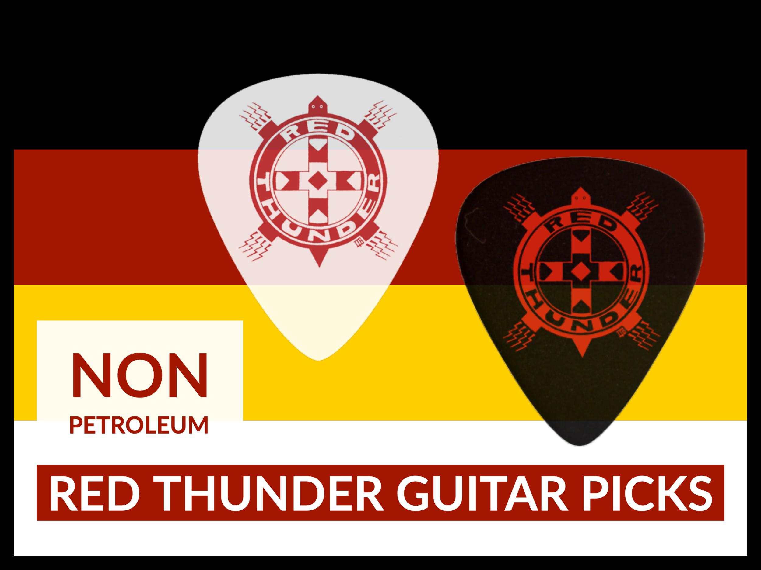 Eco-friendly Red Thunder Guitar Picks (Black).png
