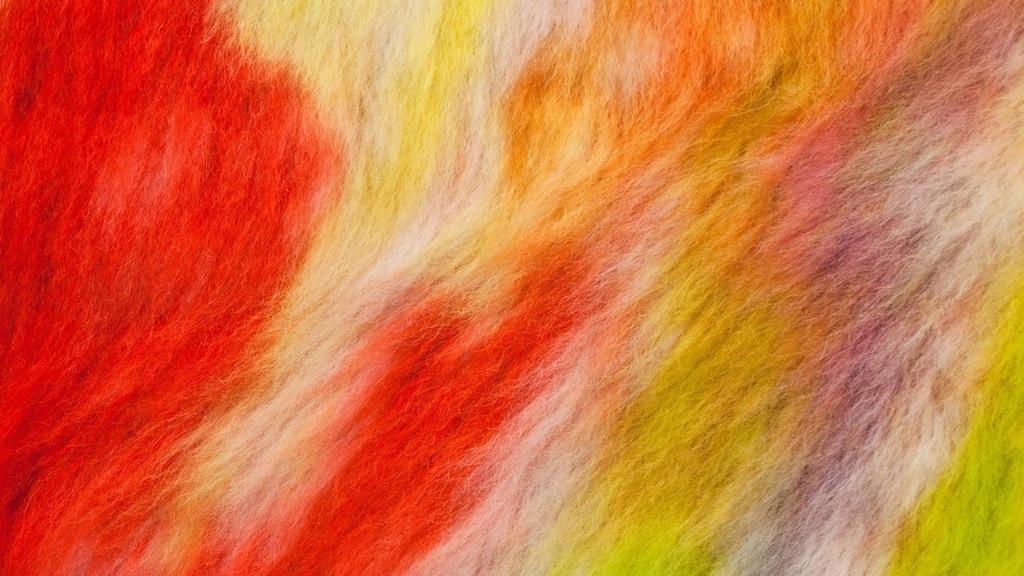 Emily Hill,  Bunches  (diptych) 2013, wool rug, acid dye, hair spray, each panel 5′ x 7′